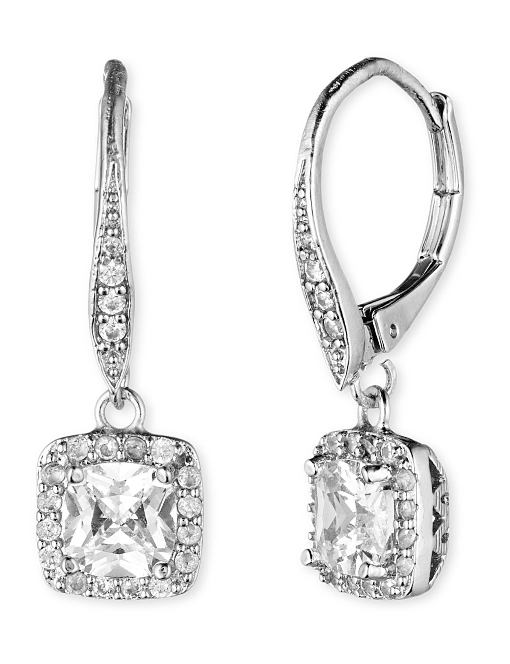 Anne Klein Silver Drops Earrings Fashion Jewelry