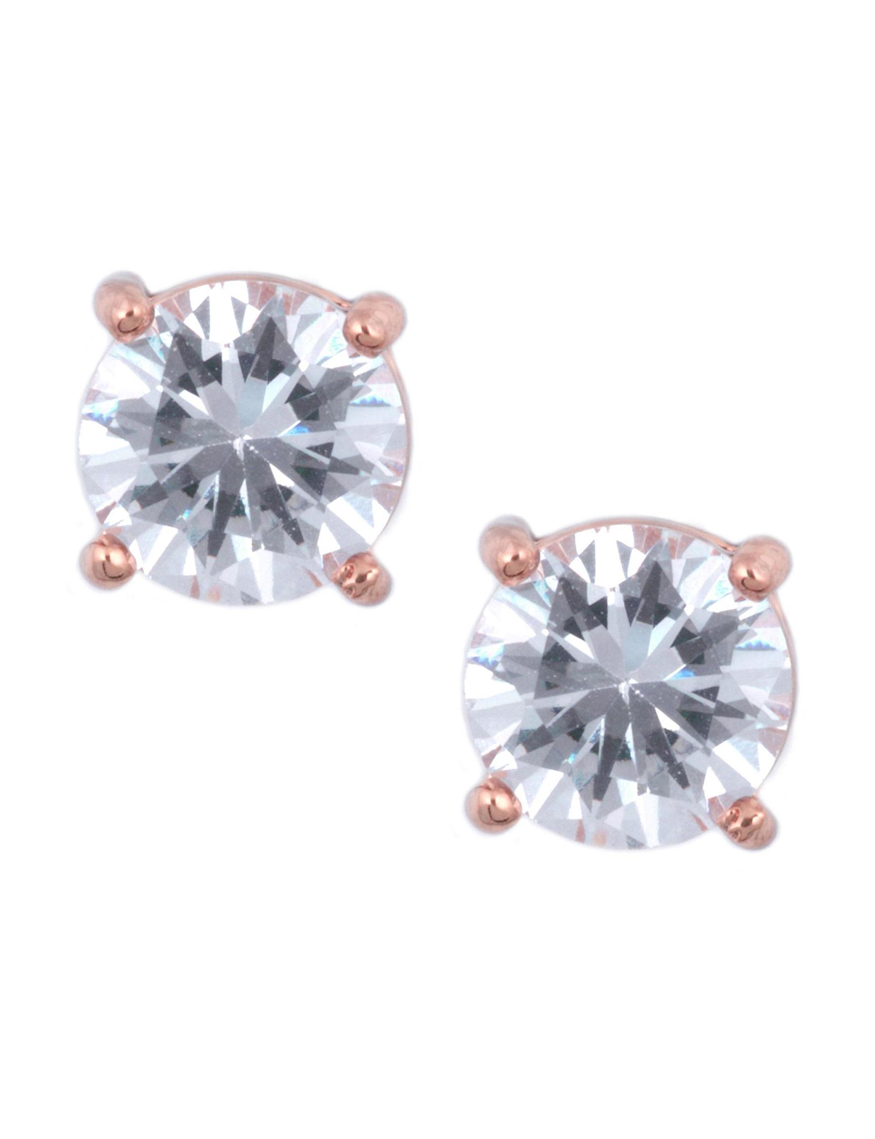 Anne Klein Rose Gold Studs Earrings Fashion Jewelry