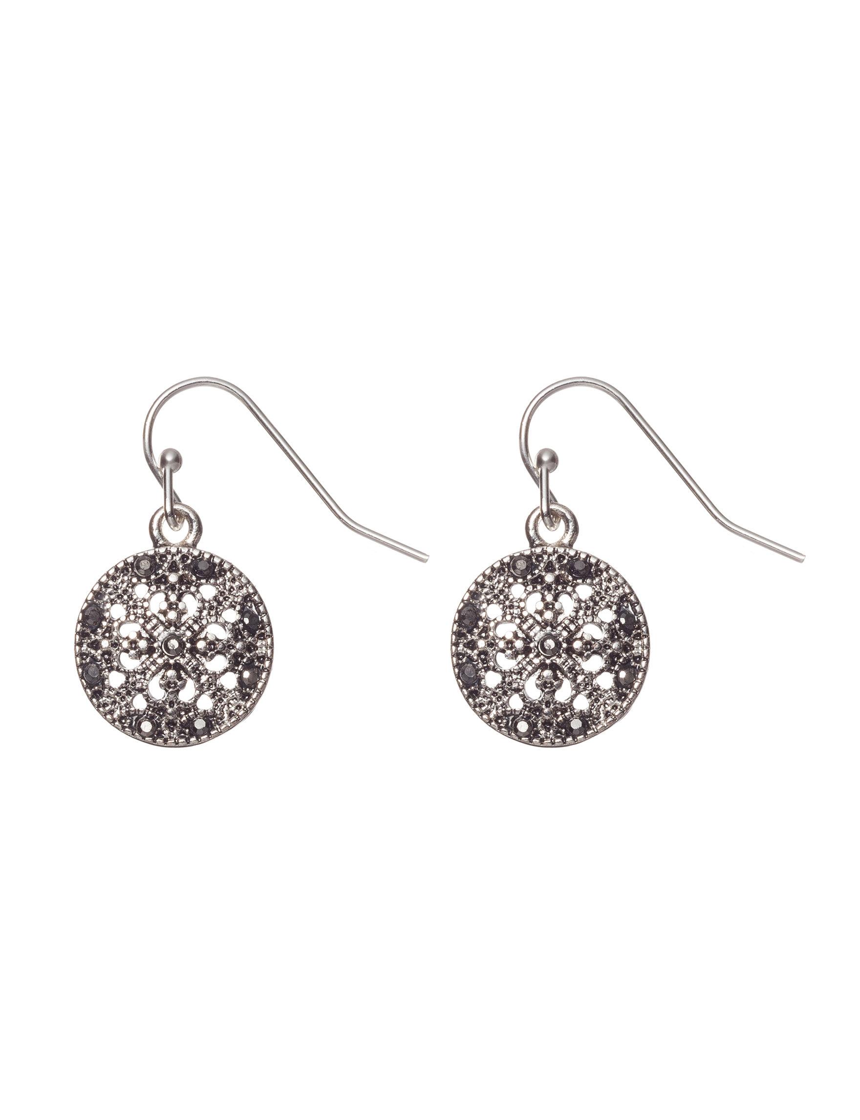 Hannah Gunmetal Drops Earrings Fashion Jewelry
