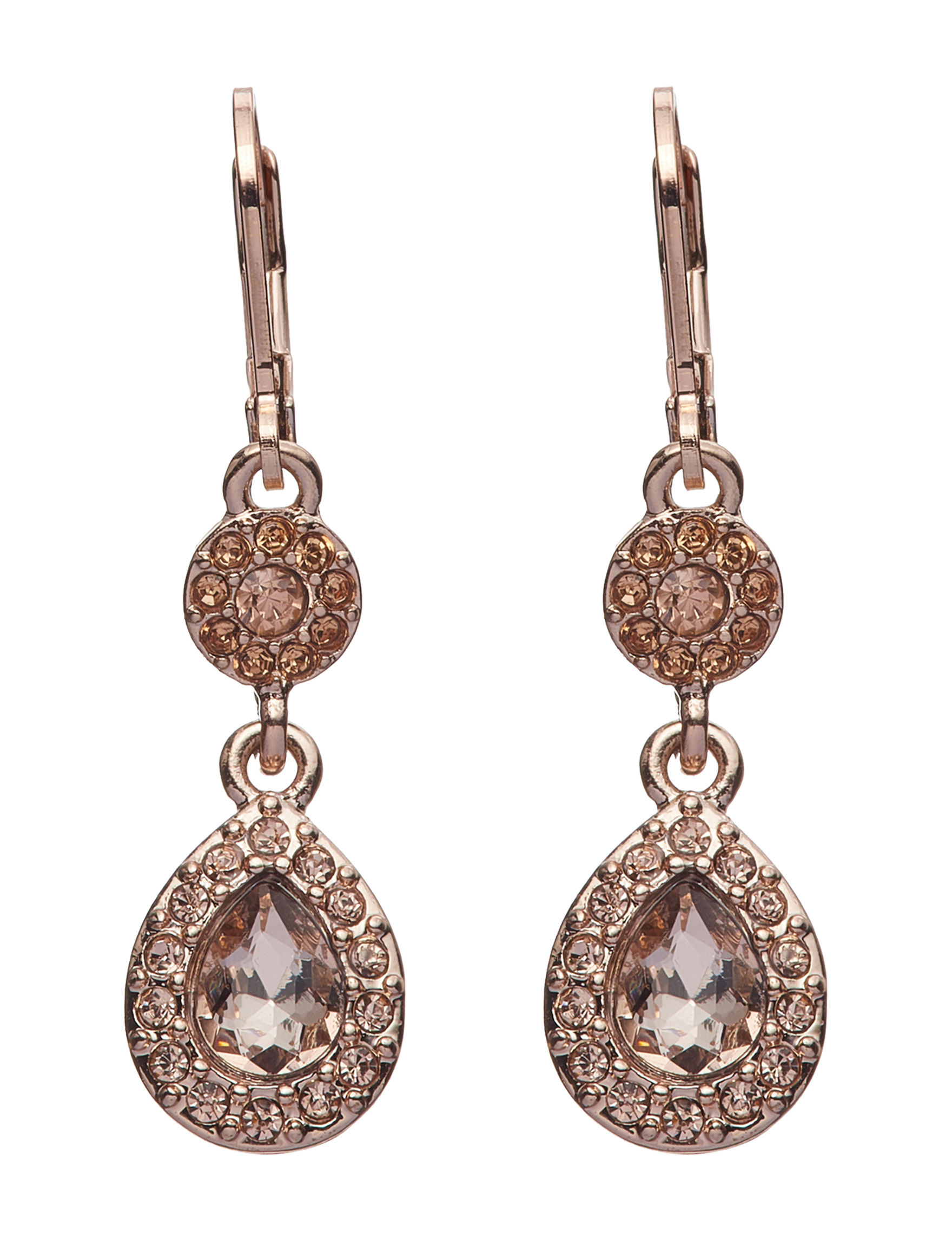 Napier Rose Gold Drops Earrings Fashion Jewelry