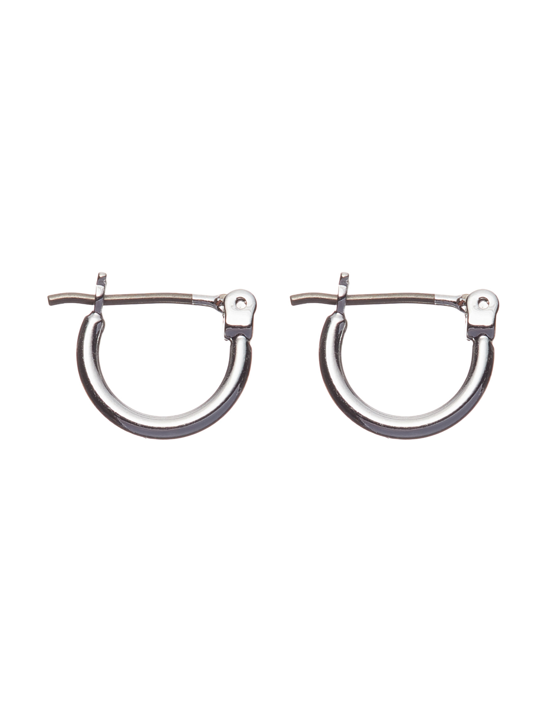 Napier Silver Hoops Earrings Fashion Jewelry