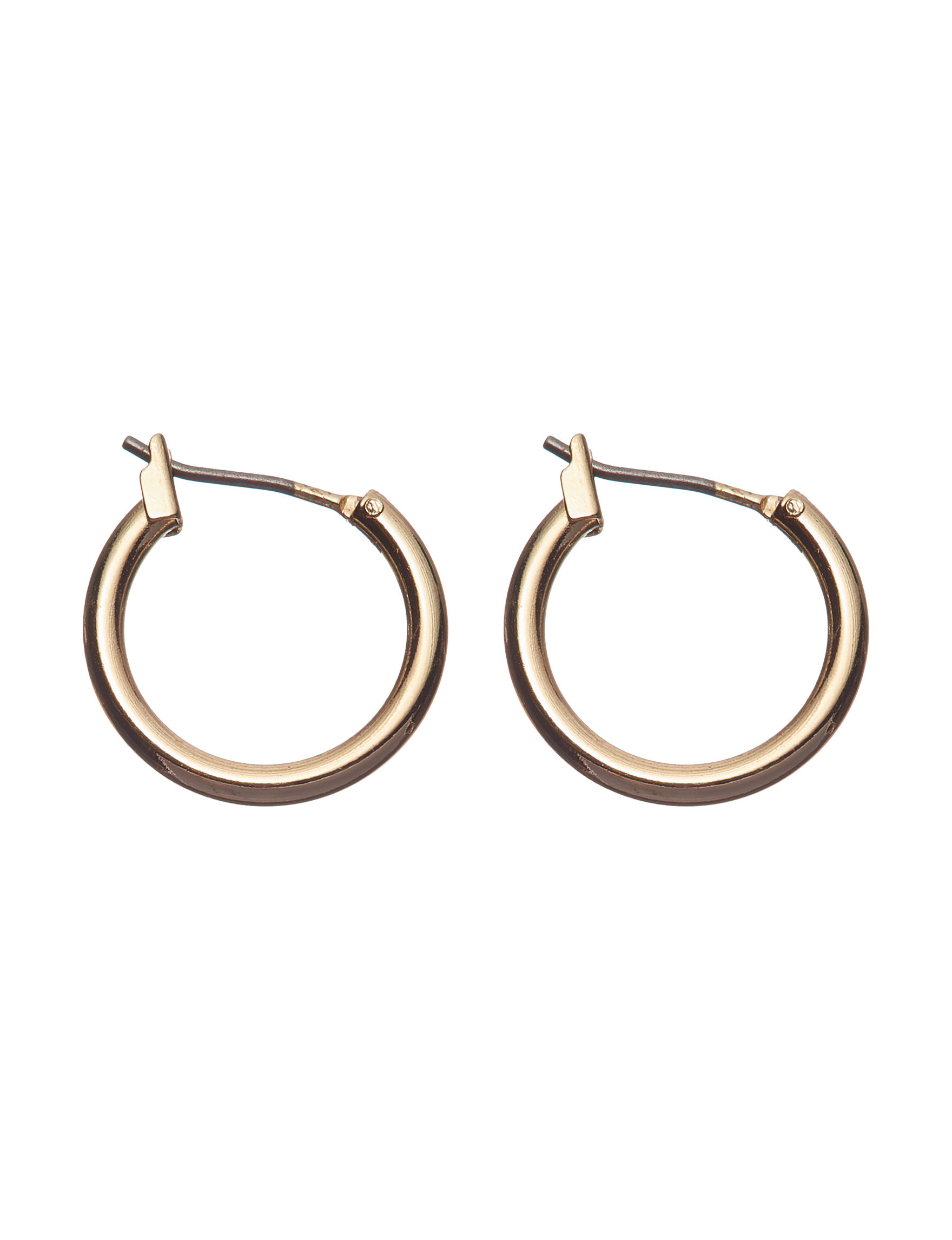 Napier Gold Hoops Earrings Fashion Jewelry