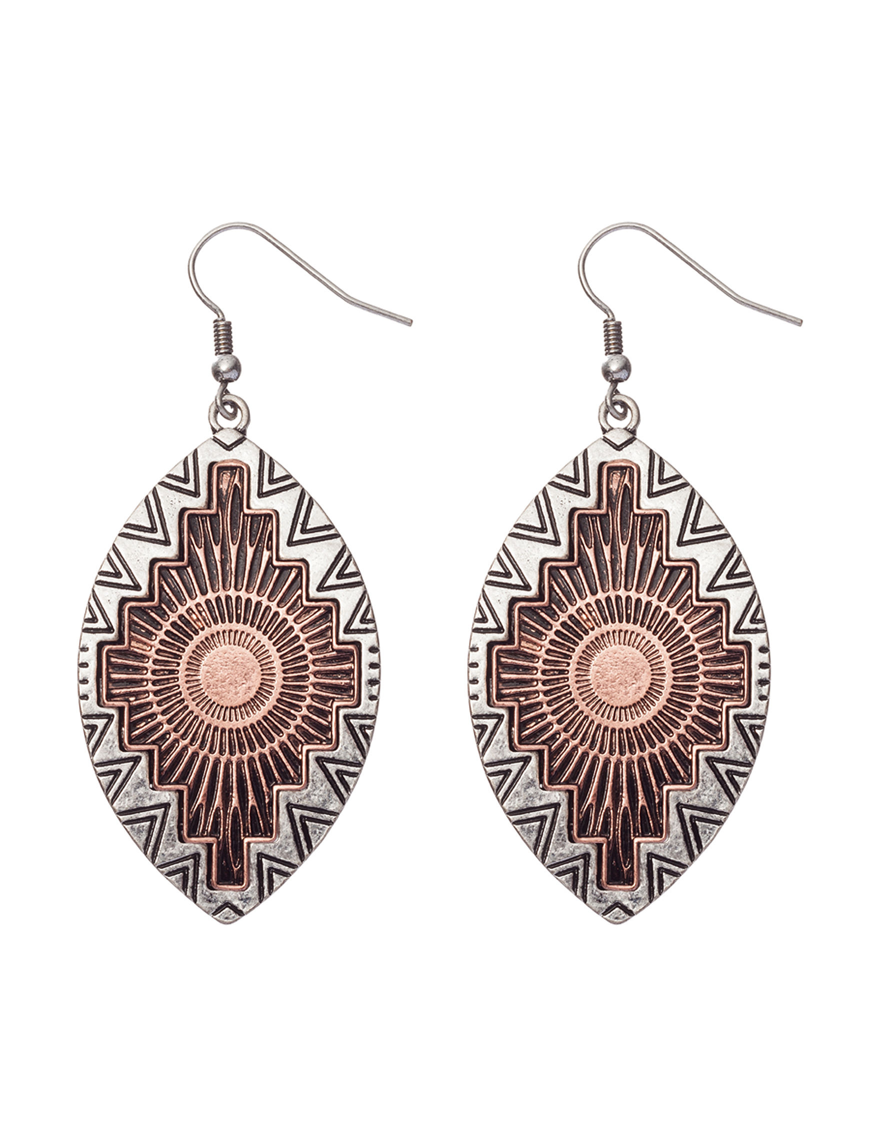 Hannah Bronze Drops Earrings Fashion Jewelry