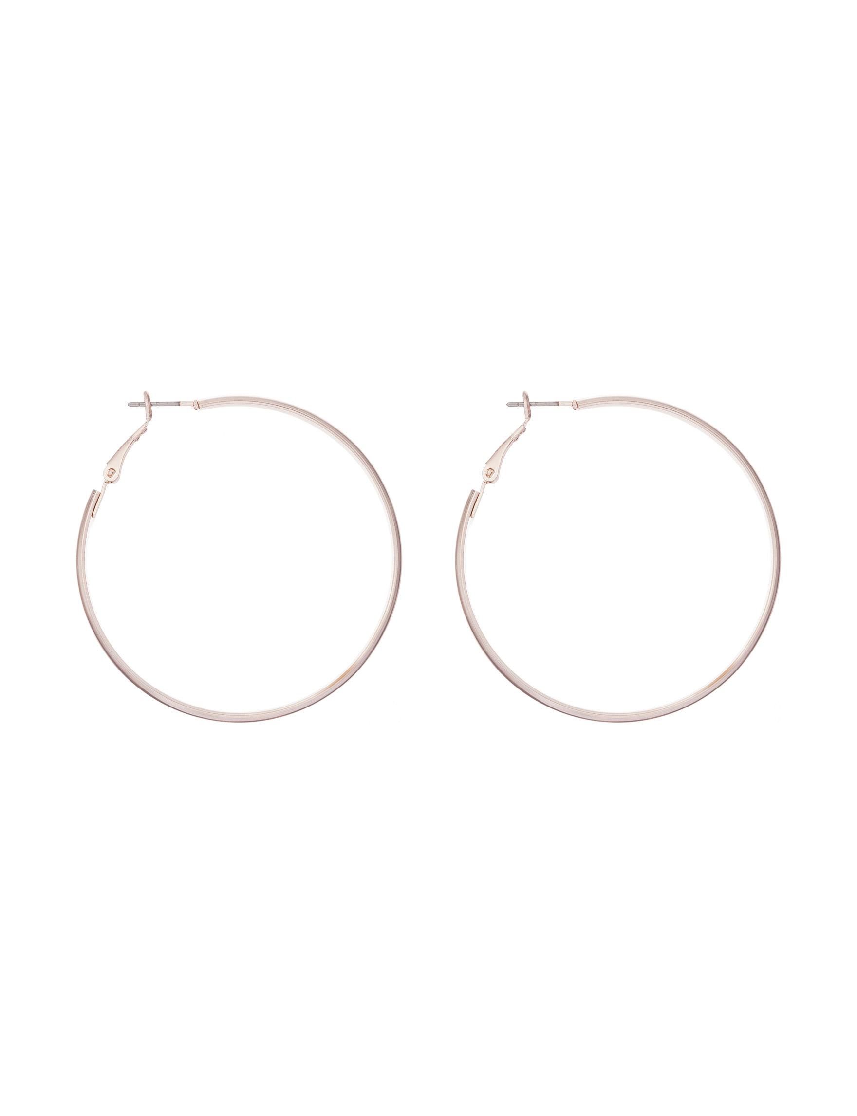 Hannah Rose Gold Hoops Earrings Fashion Jewelry