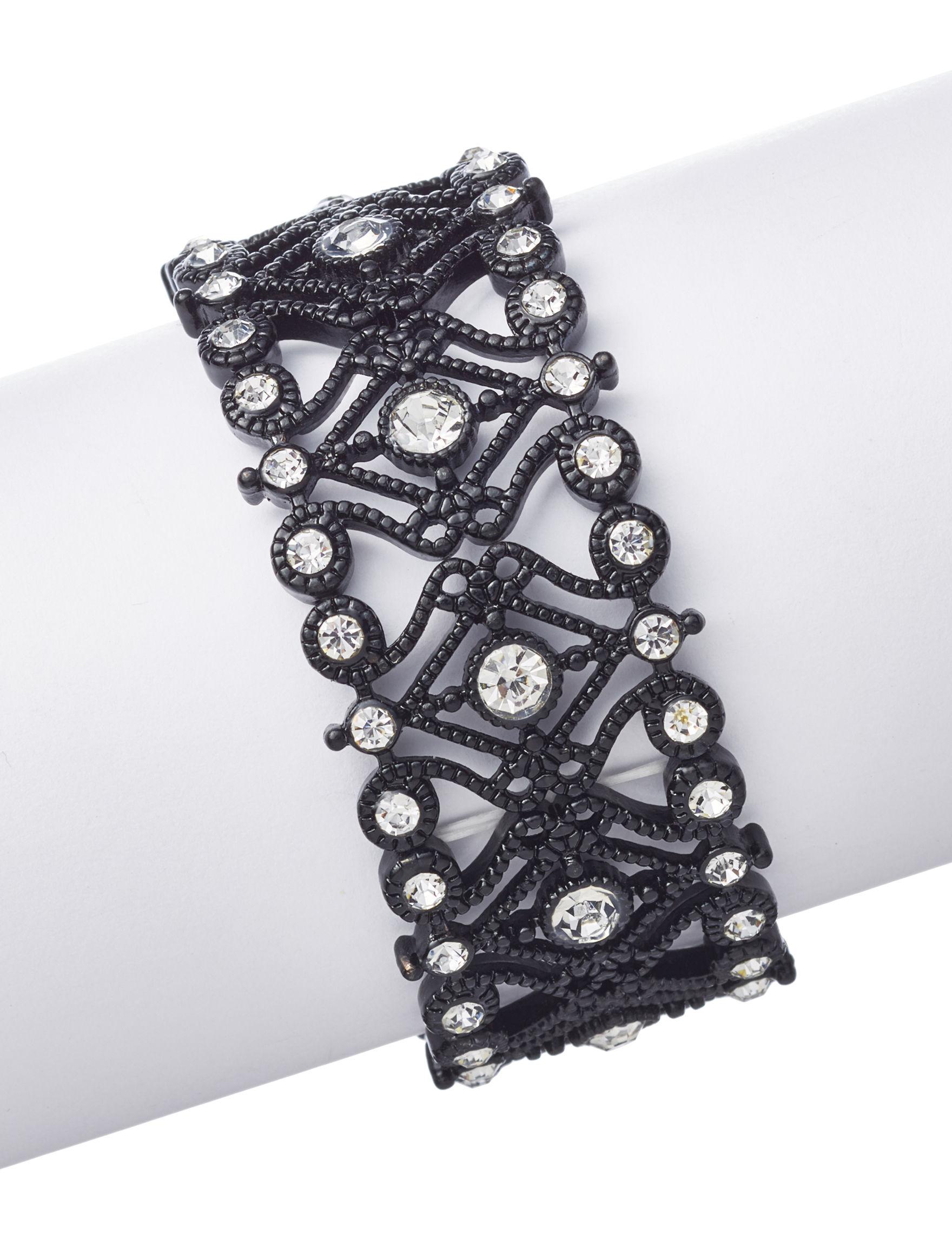 Hannah Black / Crystal Bracelets Fashion Jewelry