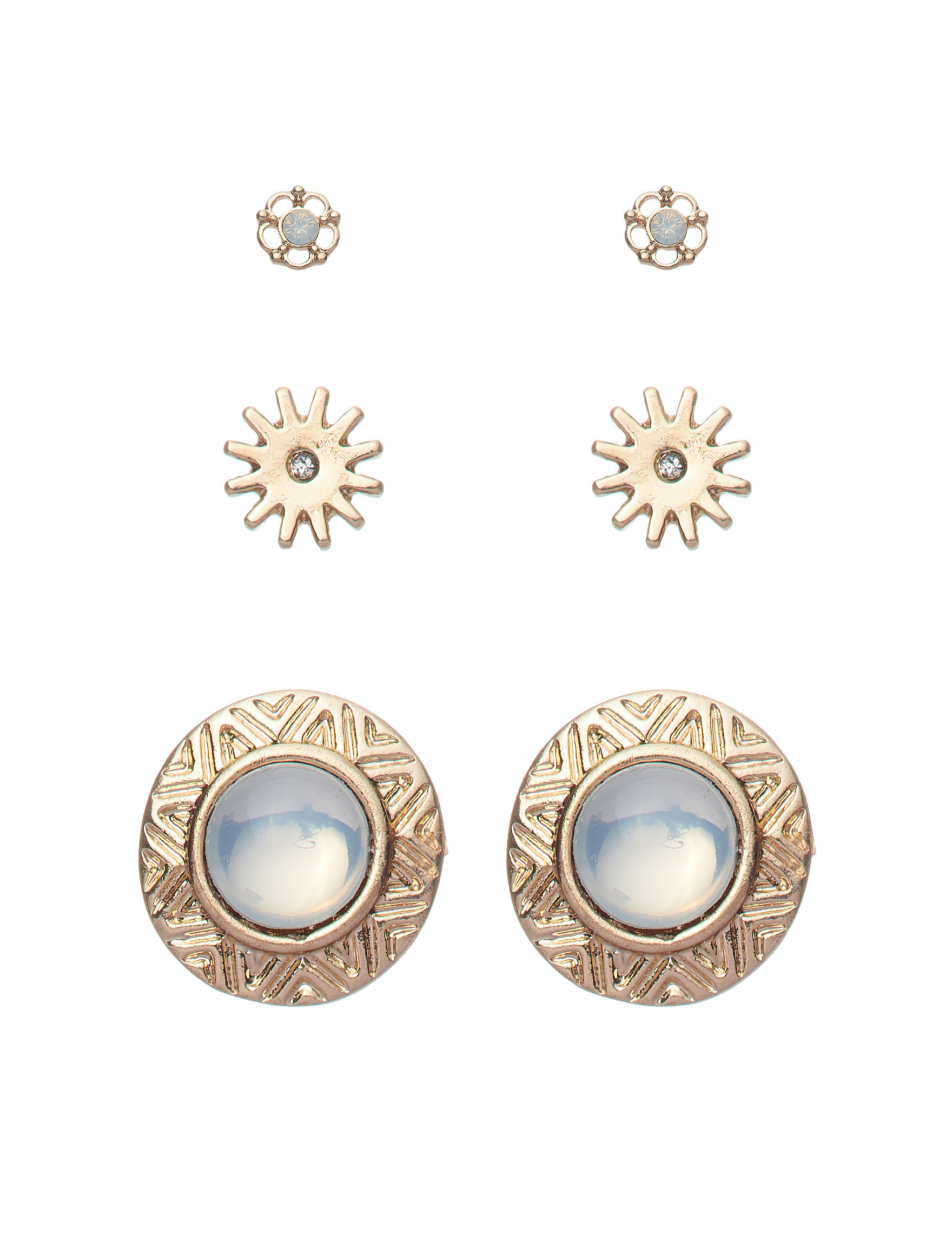 Signature Studio Gold Studs Earrings Fashion Jewelry