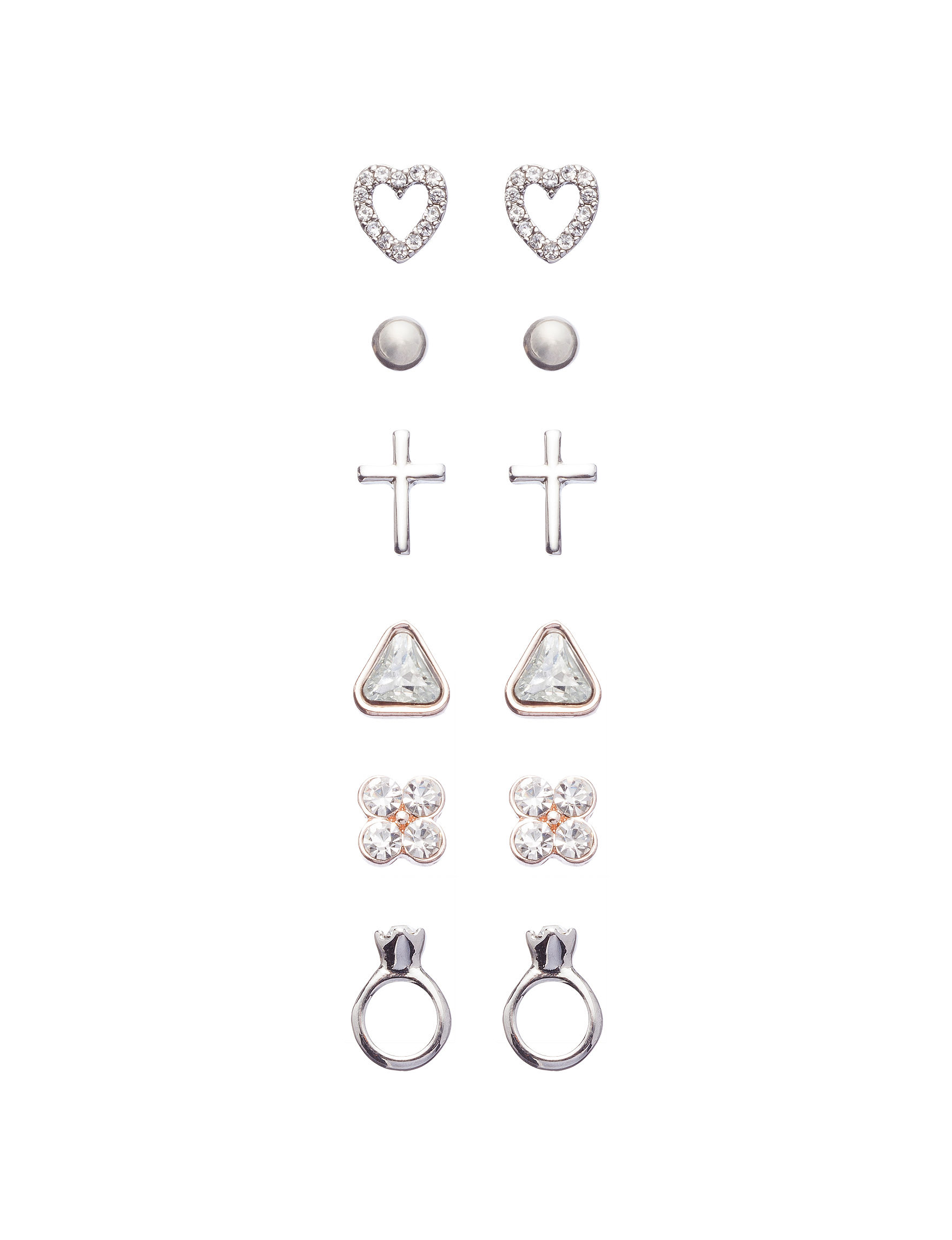 G by Guess Rose Gold Studs Earrings Jewelry Sets Fashion Jewelry