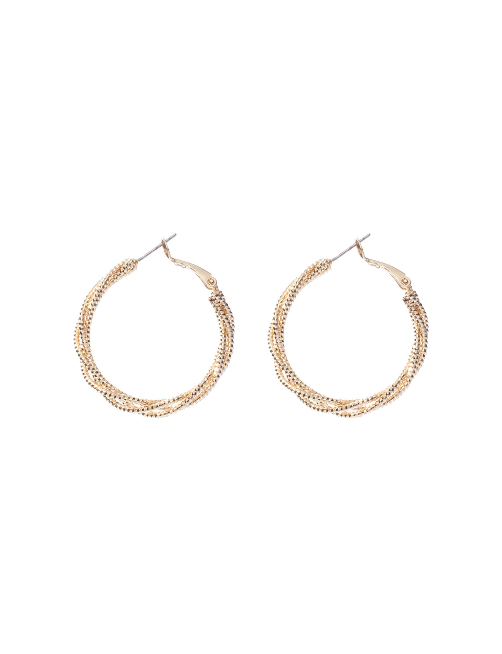 Signature Studio  Hoops Earrings Fashion Jewelry