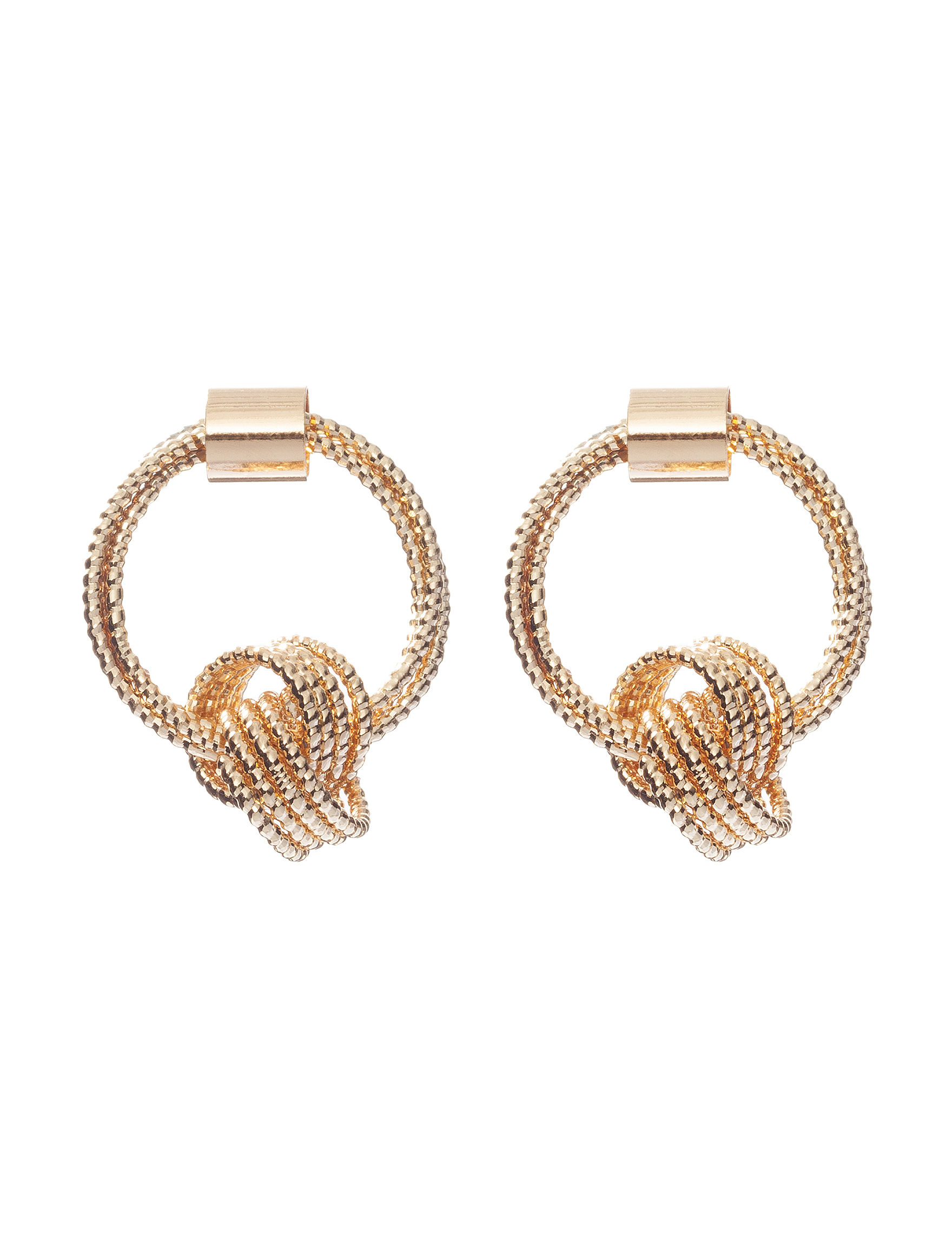 Signature Studio Gold Hoops Earrings Fashion Jewelry