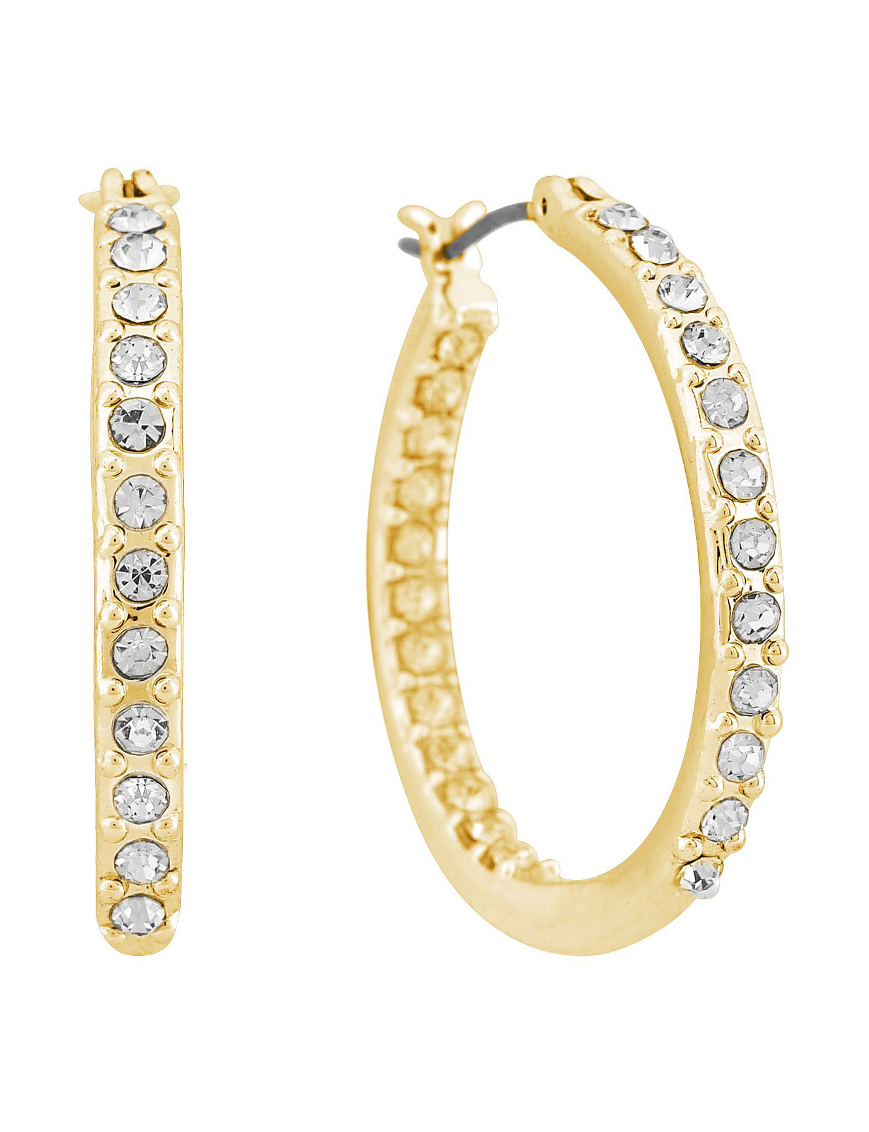 Gloria Vanderbilt Gold Hoops Earrings Fashion Jewelry