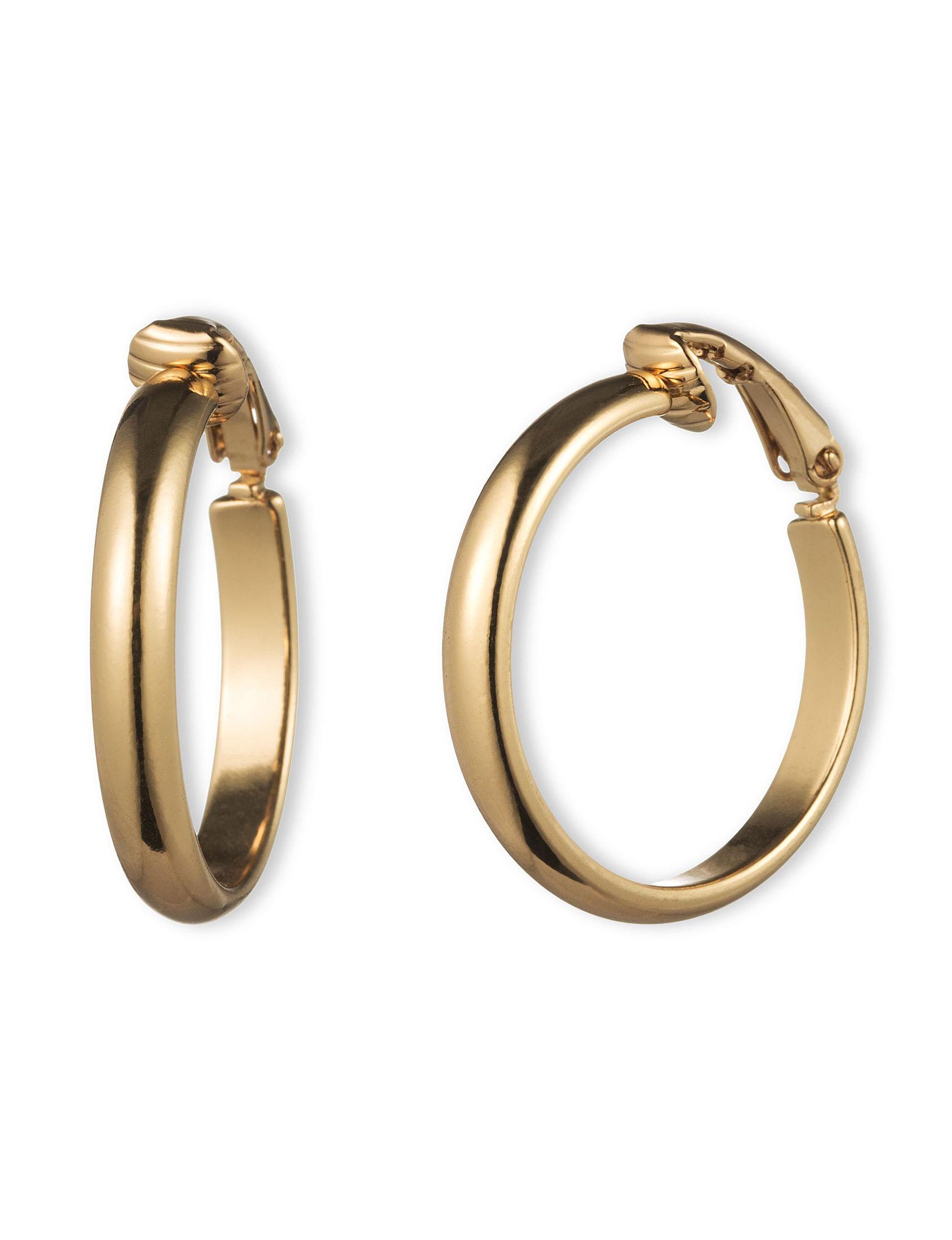 Gloria Vanderbilt Gold Hoops Earrings Fashion Jewelry