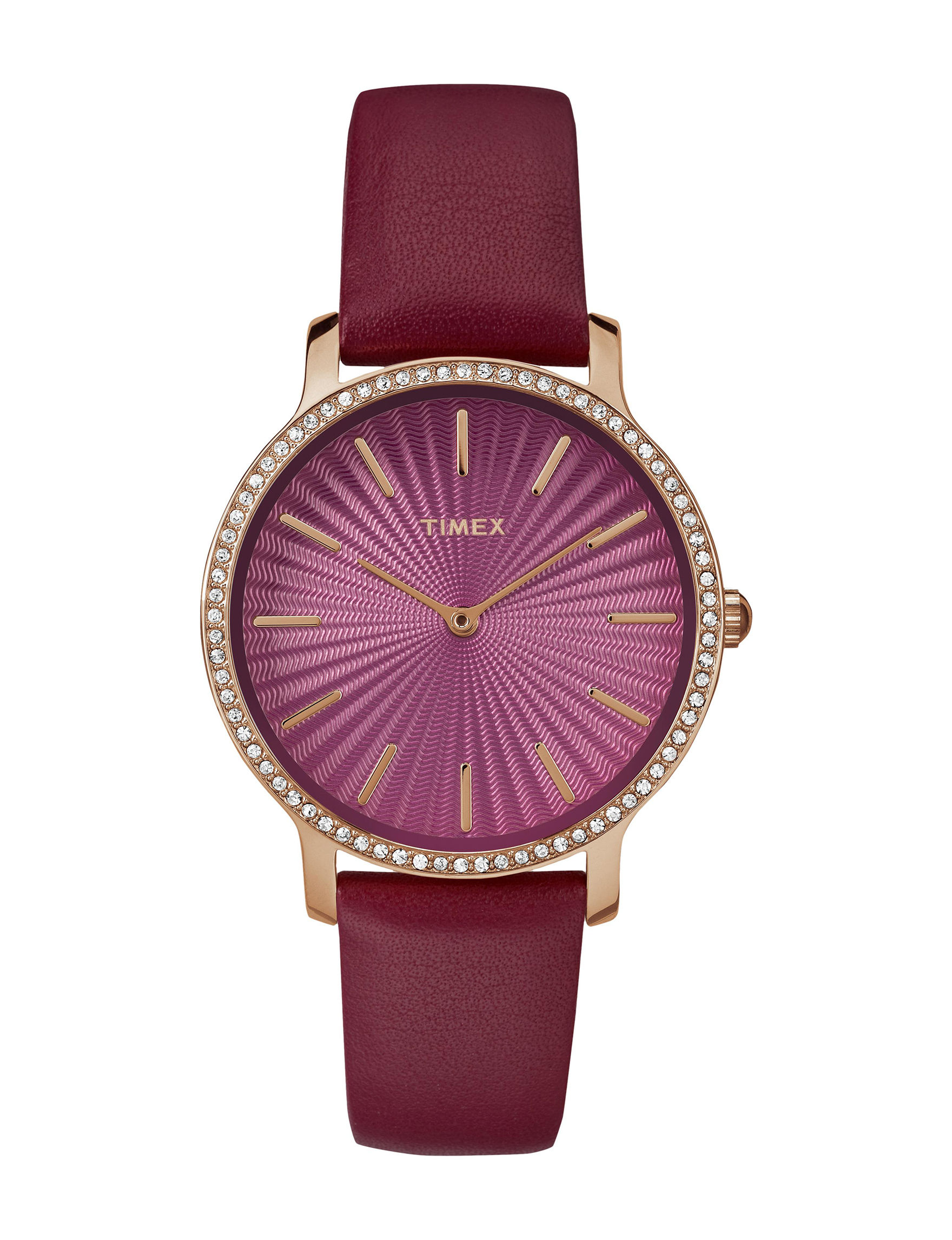 Timex Burgundy Fashion Watches