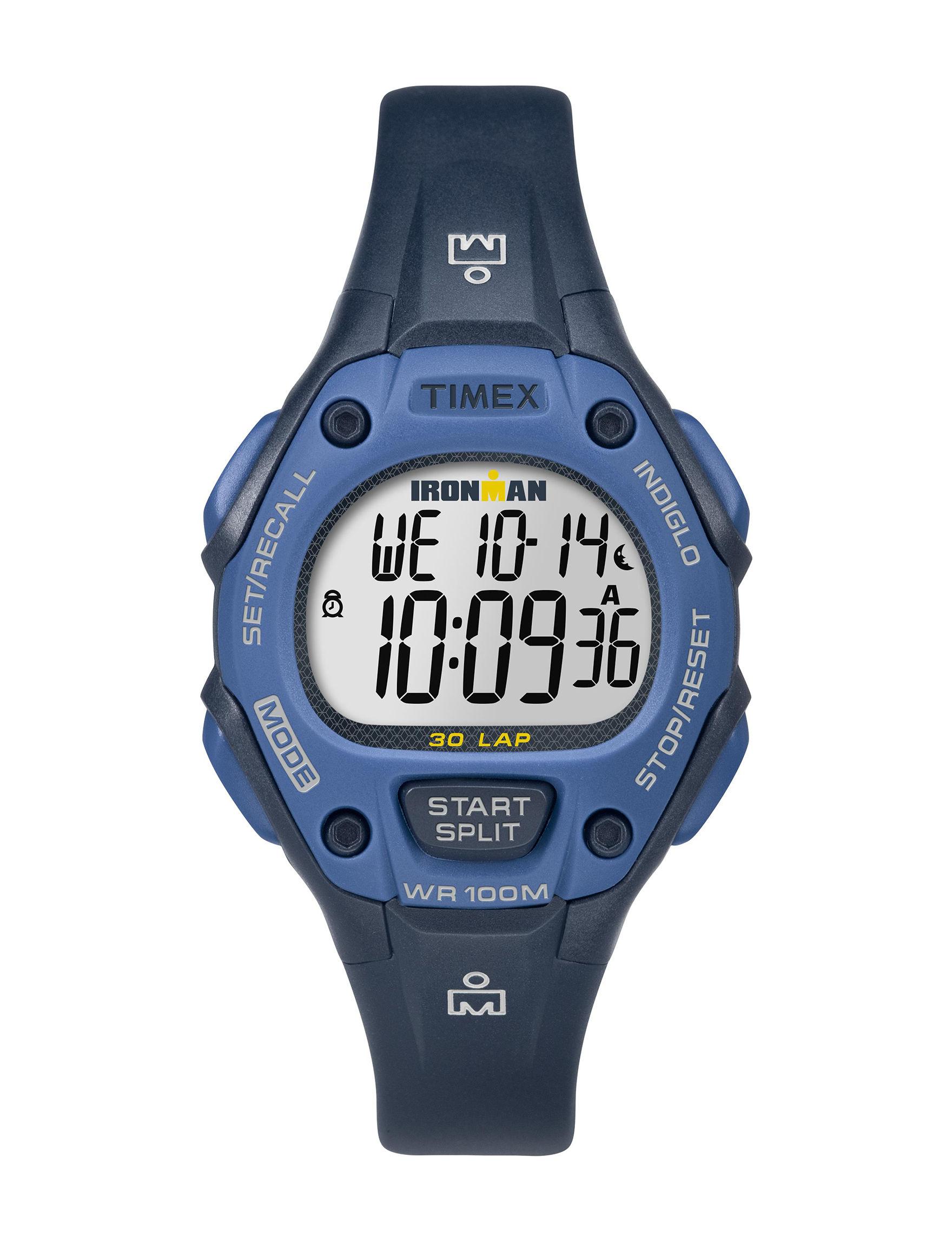 Timex Blue Sport Watches