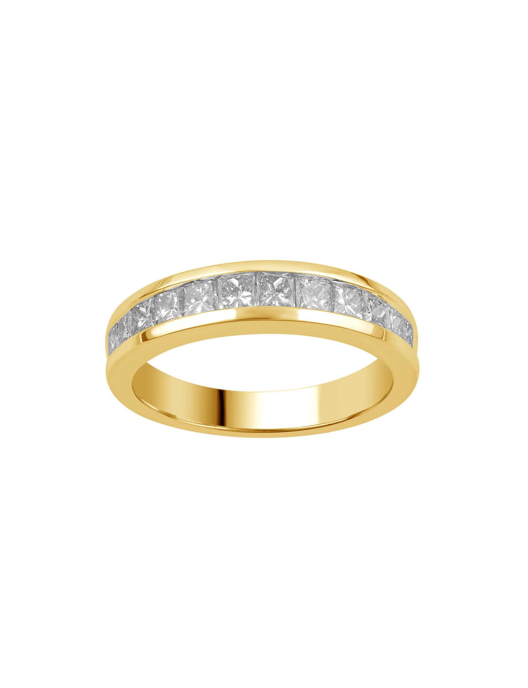 Brilliant Diamond Gold Rings Fine Jewelry