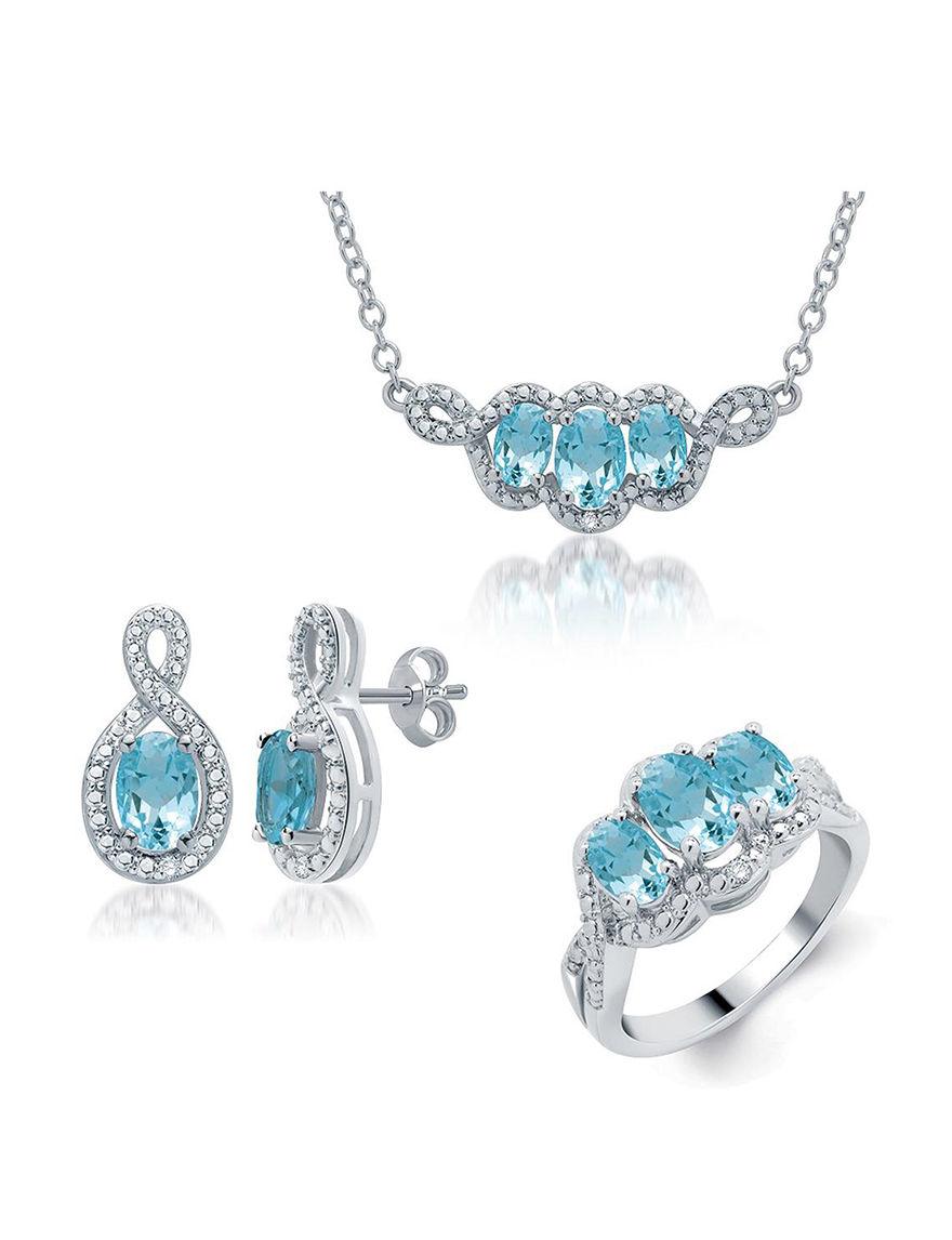 Kiran White Gold Jewelry Sets Fine Jewelry