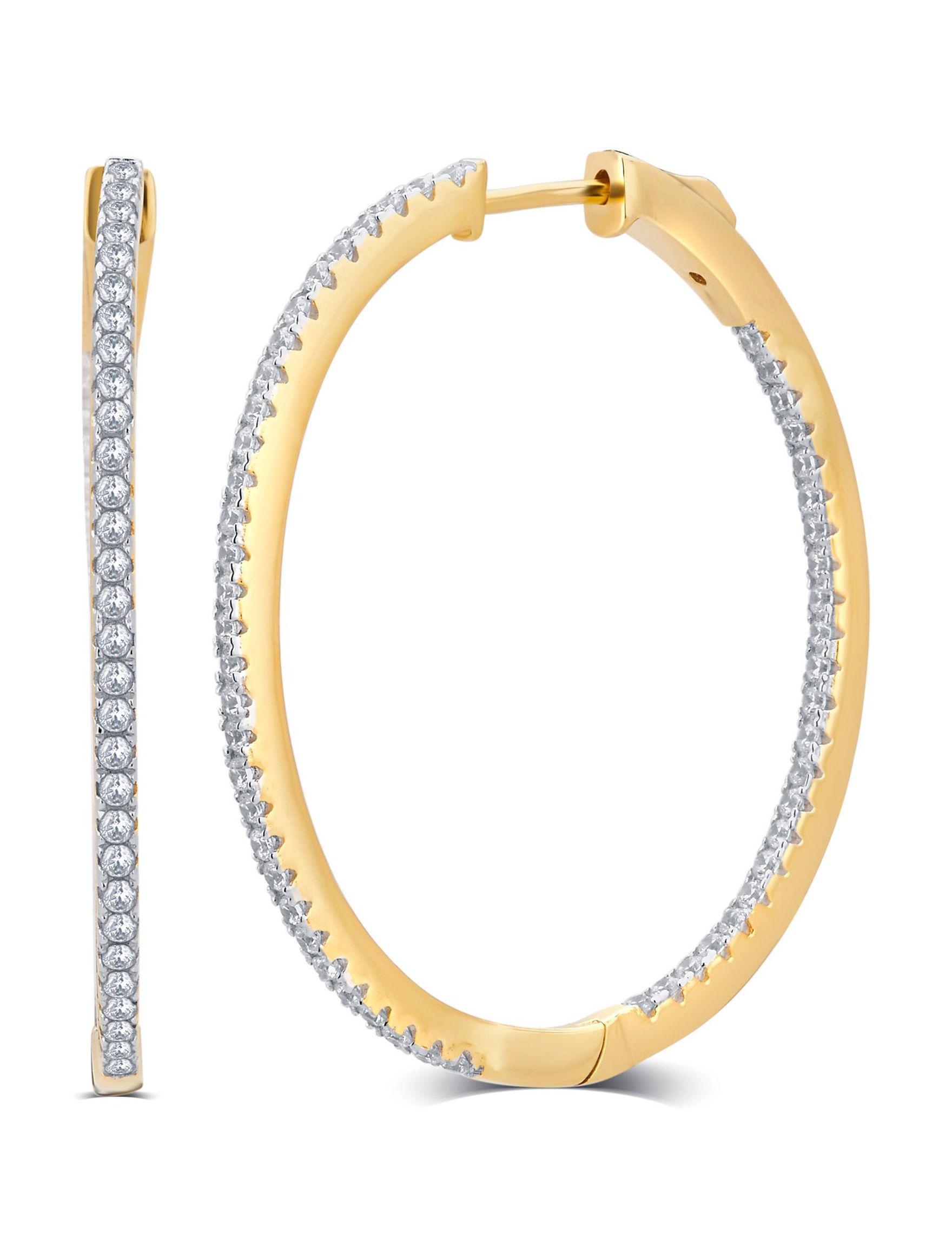 Kiran Gold Hoops Earrings
