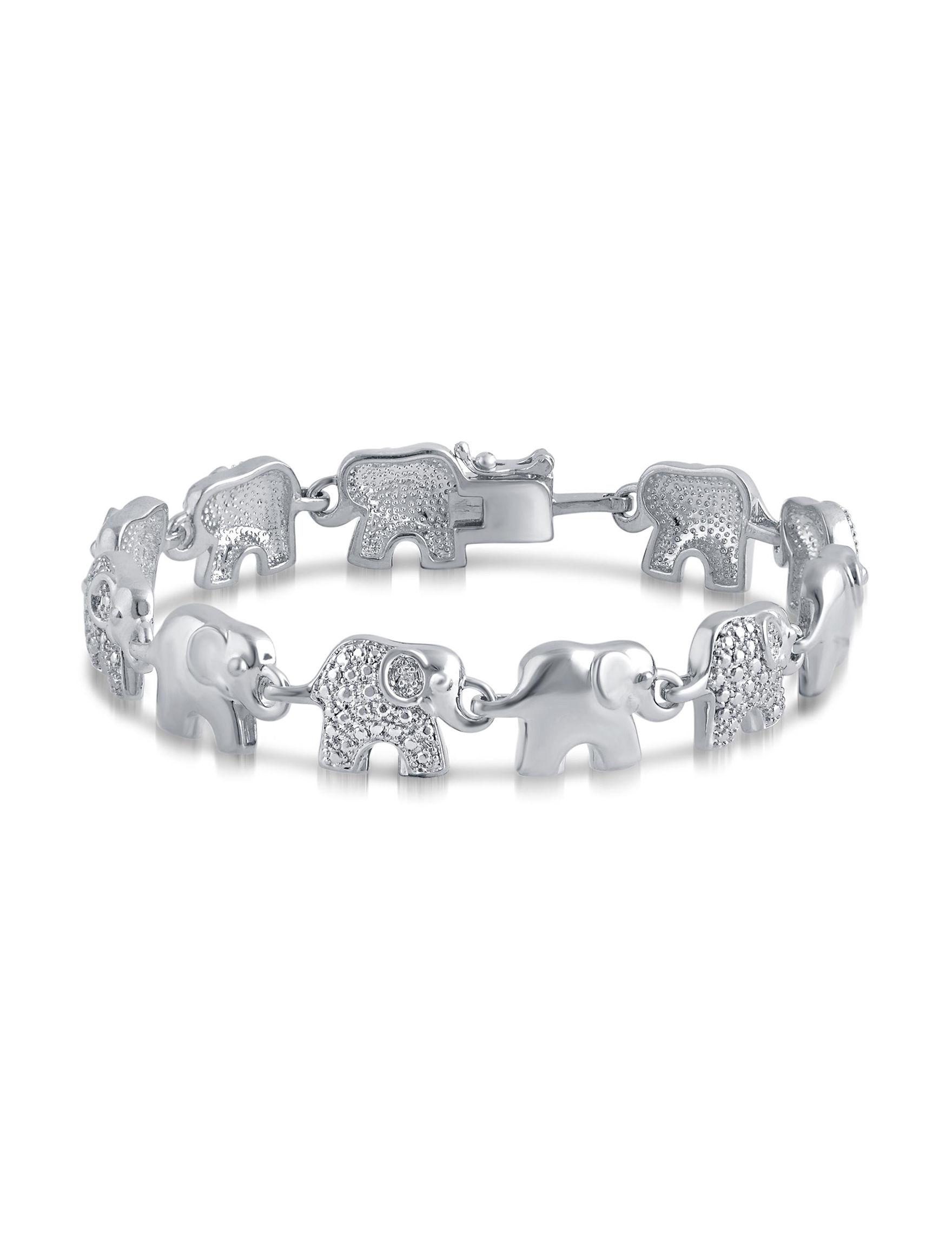 Brilliant Diamond White Gold Bracelets Fine Jewelry
