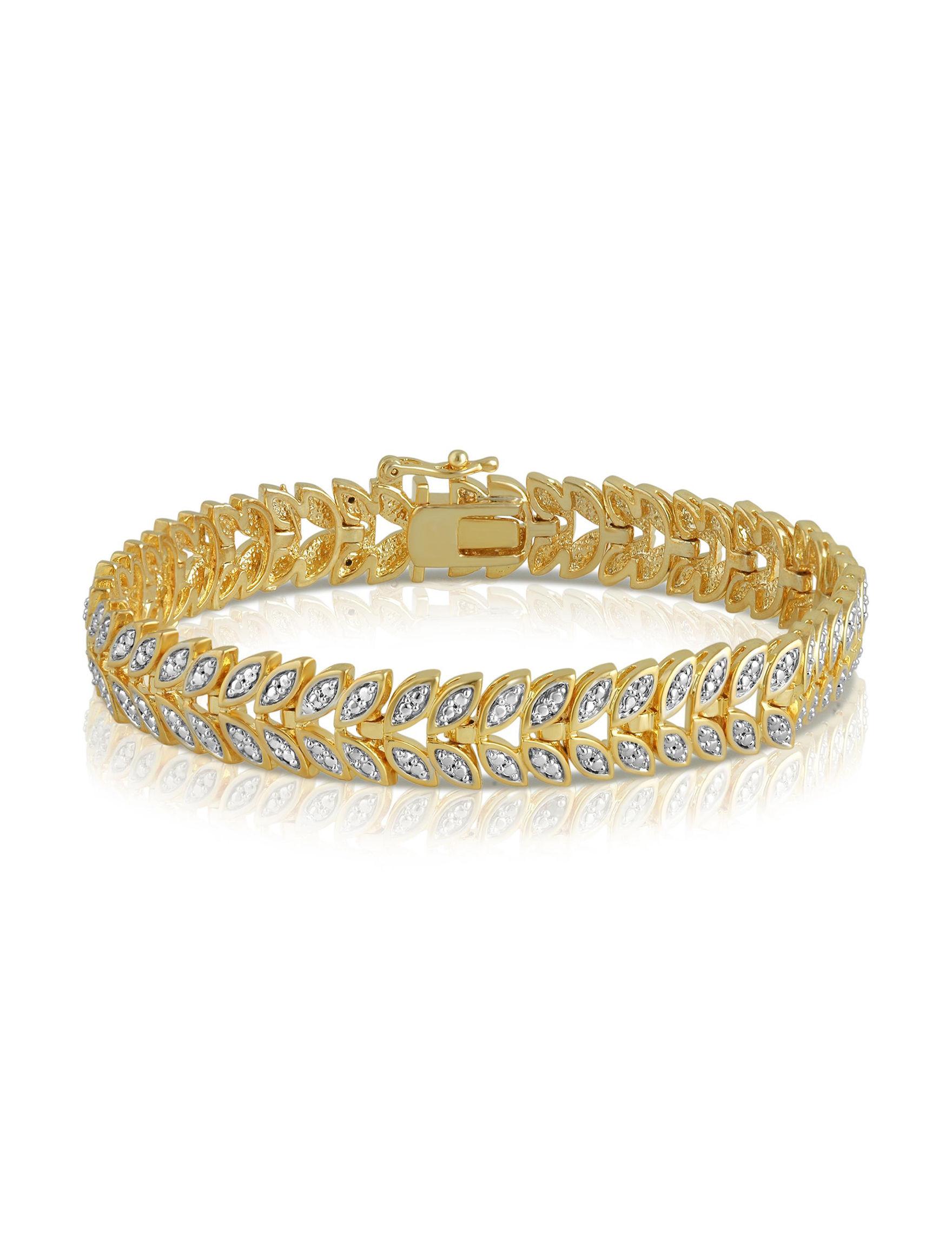 Brilliant Diamond Gold Bracelets Fine Jewelry