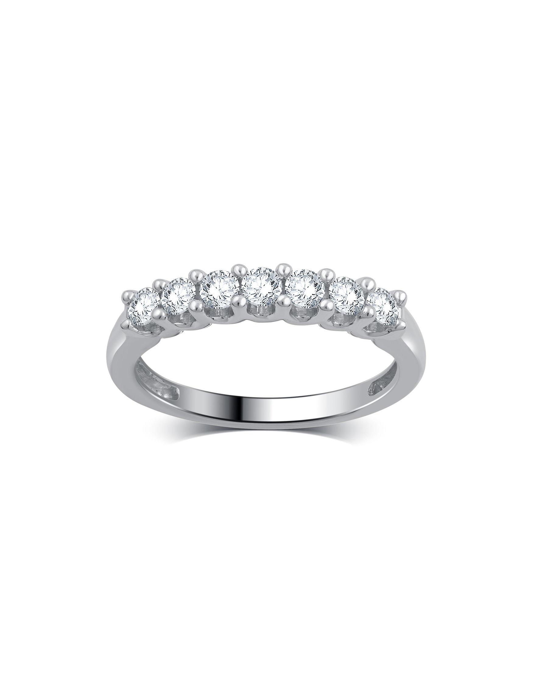 Brilliant Diamond White Gold Rings Fine Jewelry