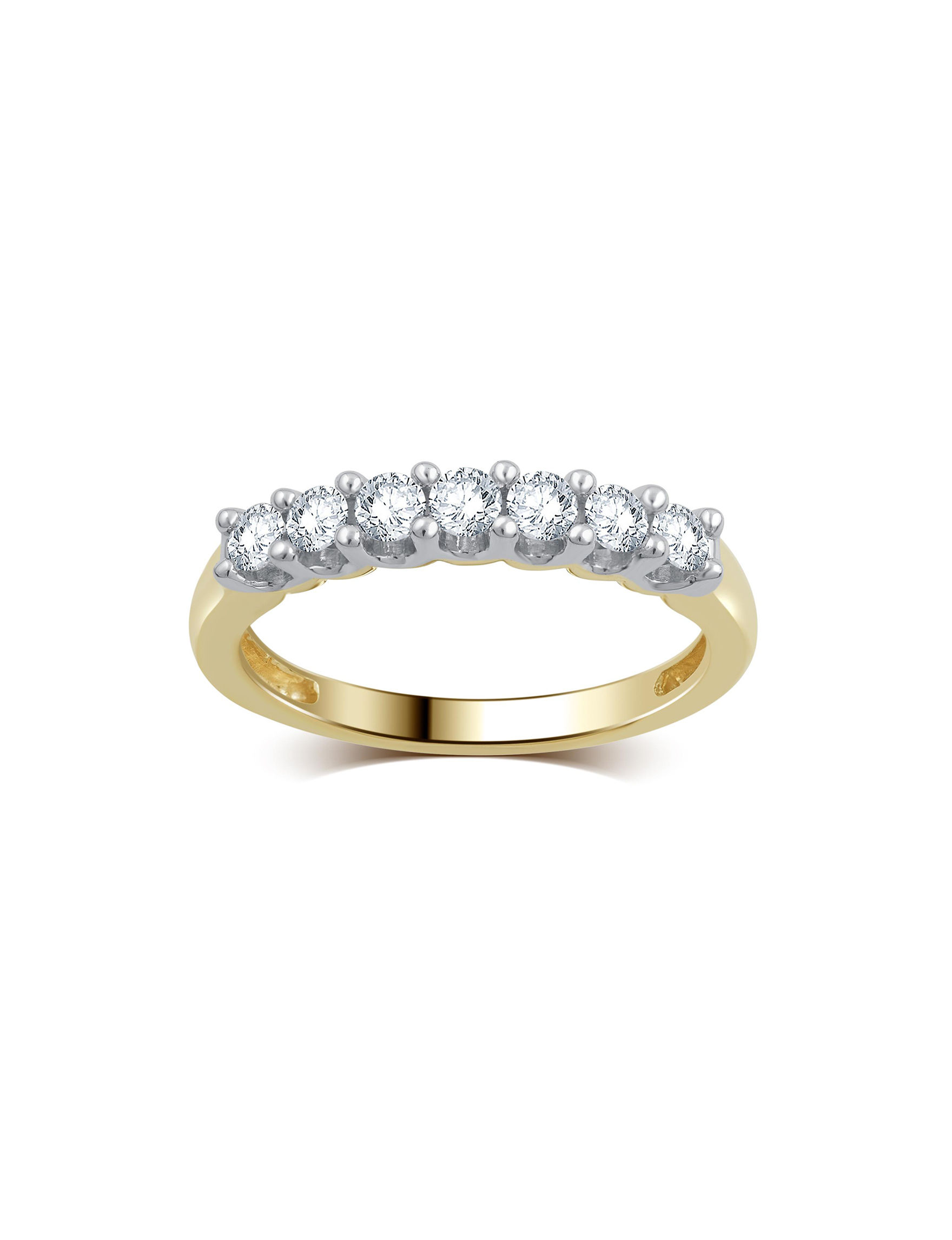Brilliant Diamond Gold Rings Fine Jewelry