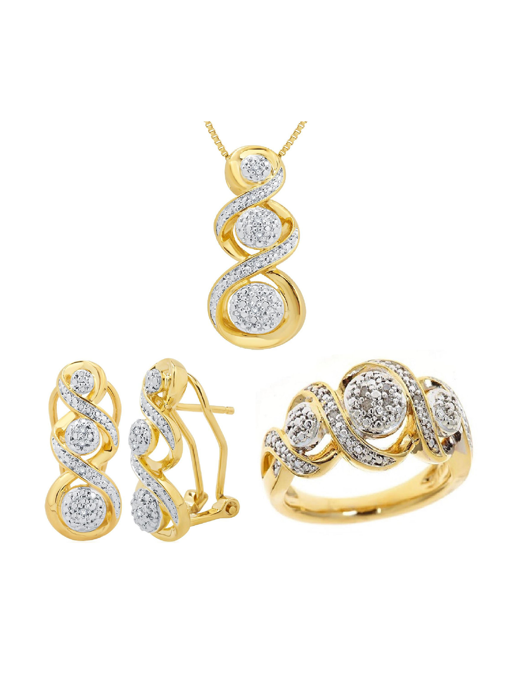 Kiran 3-pc. 1/10 CT.T.W. Diamond Jewelry Set | Stage Stores