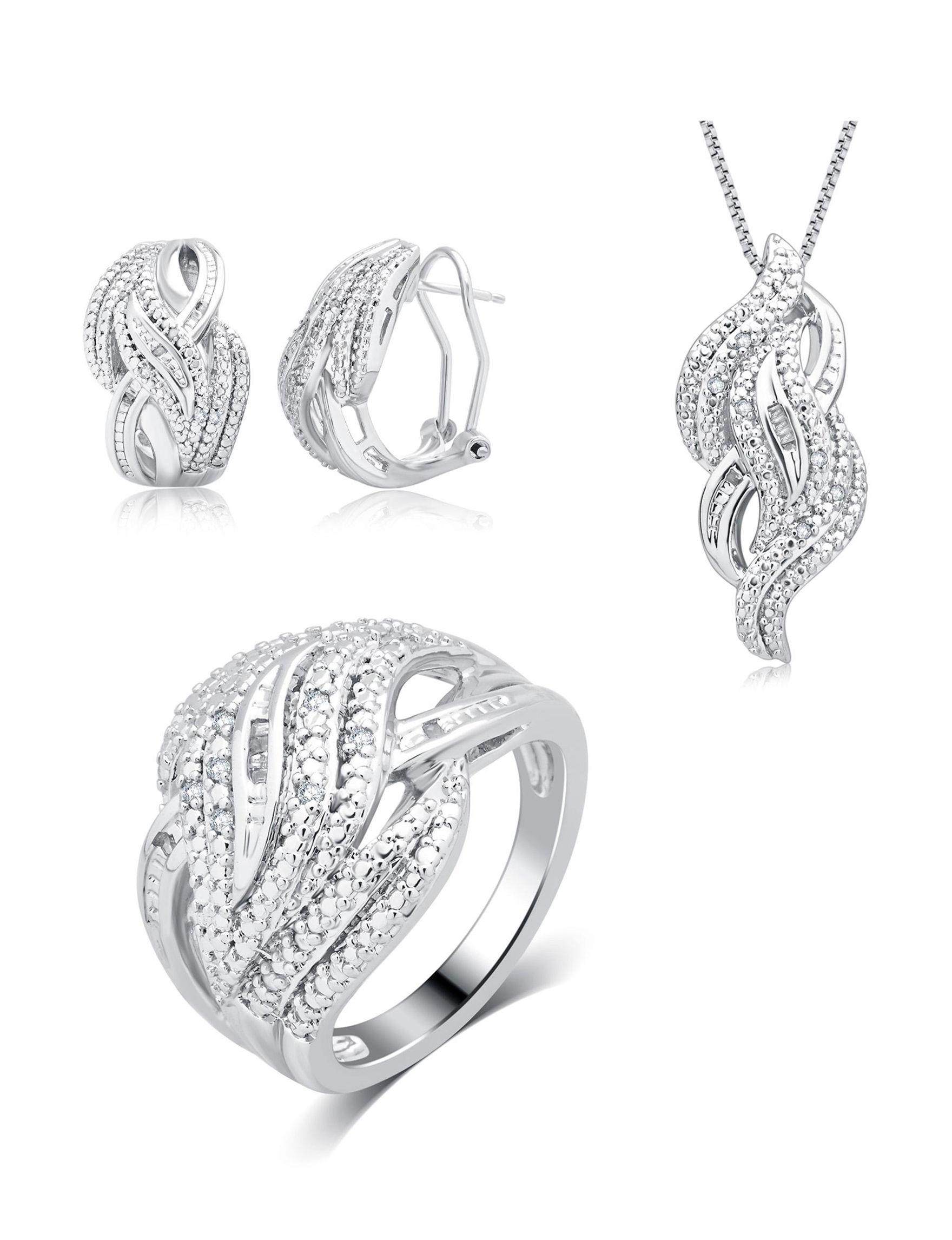 Kiran 3-pc. 1/4 CT.T.W. Diamond Jewelry Set | Stage Stores