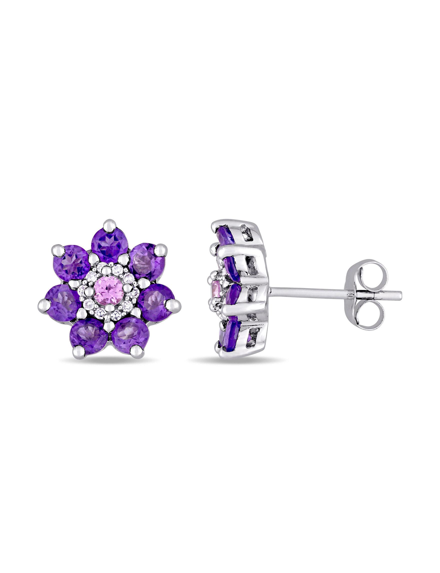 Laura Ashley Silver Earrings Fine Jewelry