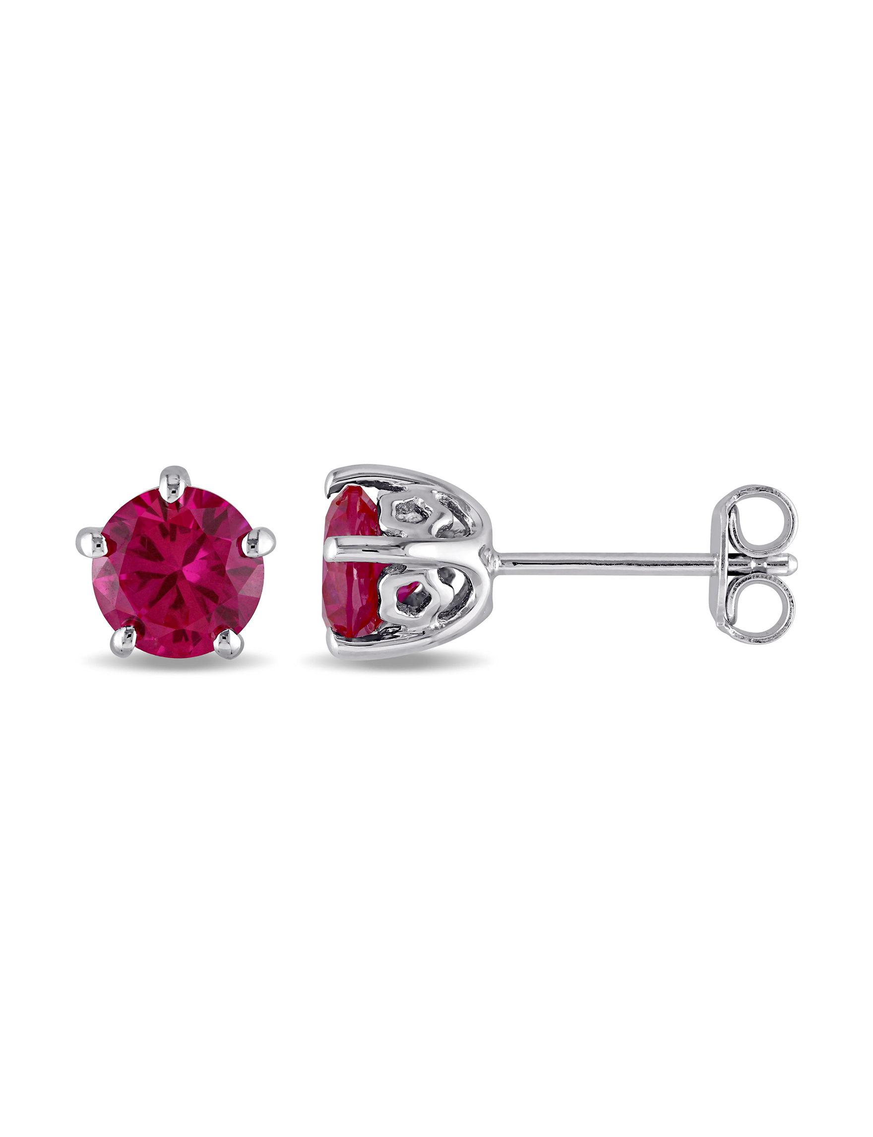 Laura Ashley Silver Studs Earrings Fine Jewelry