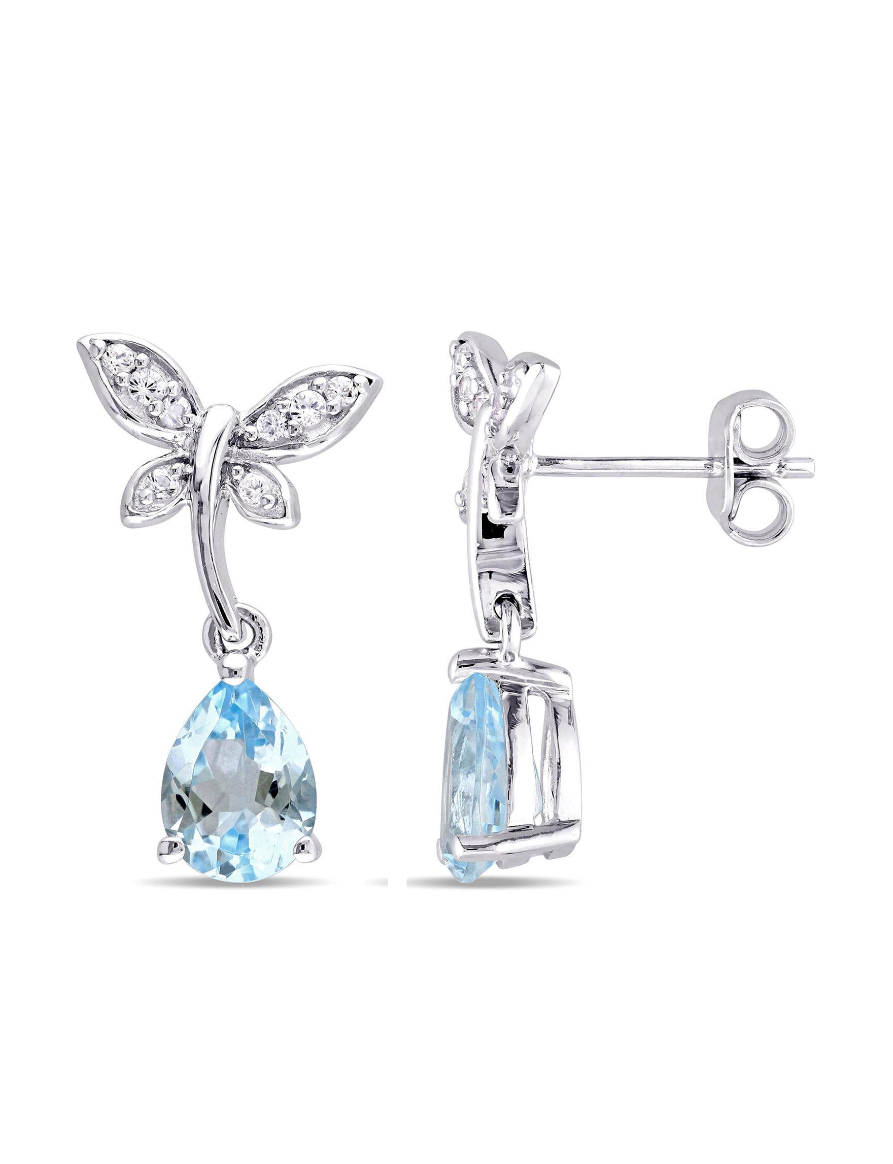 Laura Ashley Silver Earrings