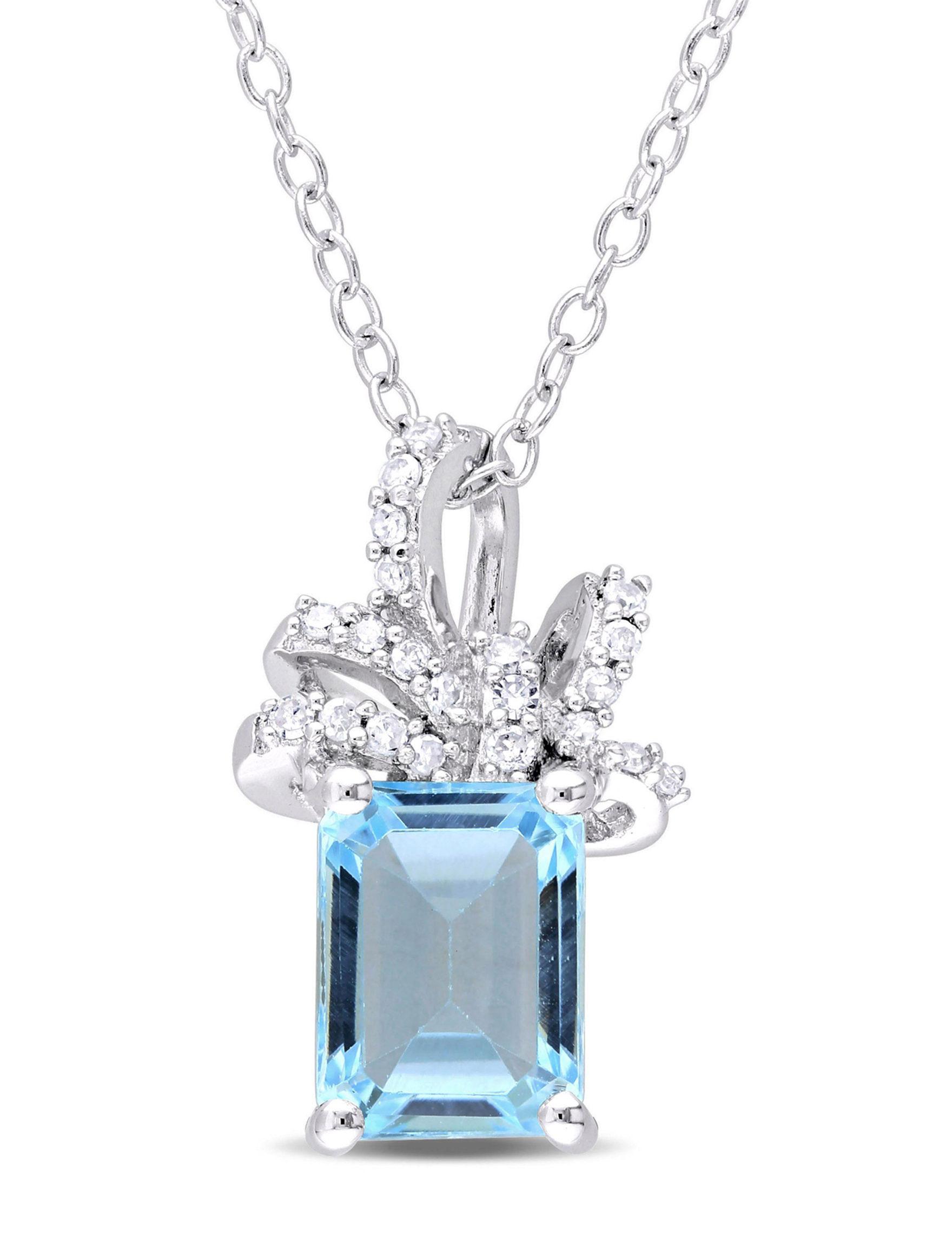 Laura Ashley Silver Necklaces & Pendants Fine Jewelry