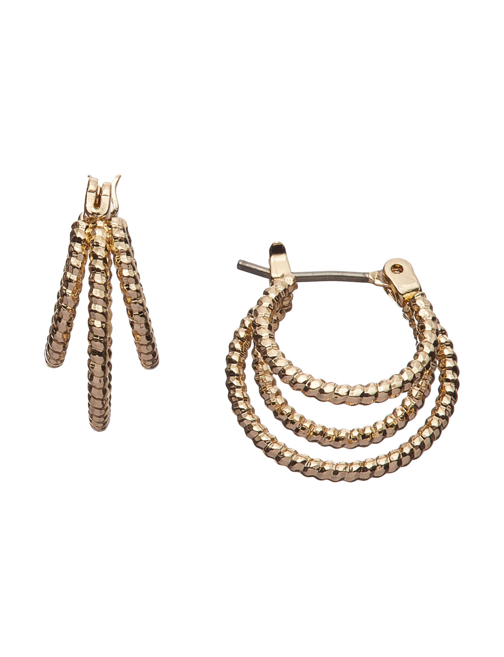 Napier Gold Hoops Earrings Fashion Jewelry