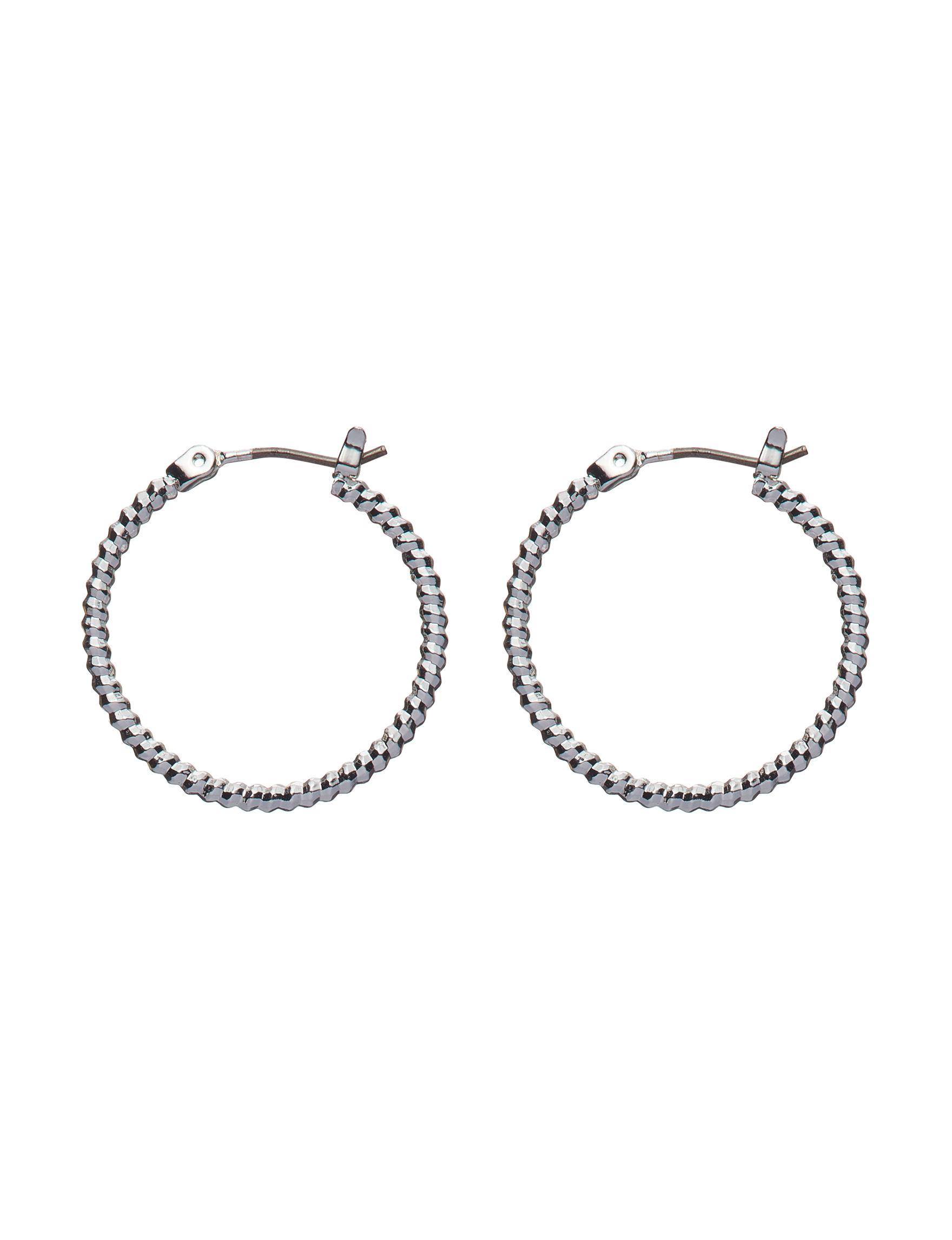 Napier Silver Hoops Earrings Fashion Jewelry