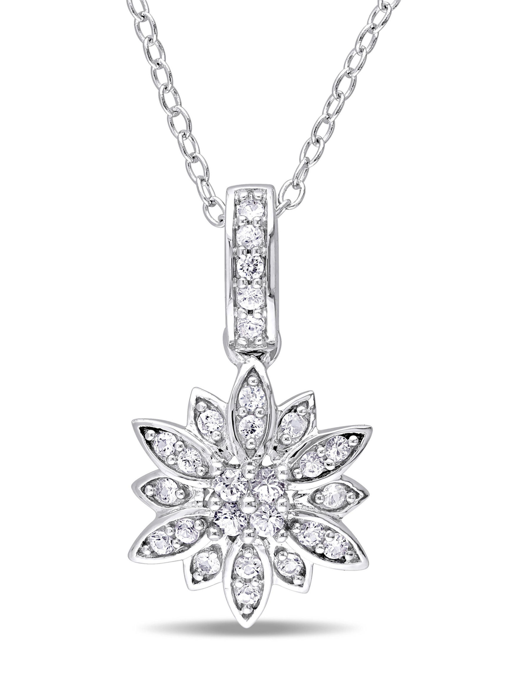 Laura Ashley Silver Necklaces & Pendants Fine Jewelry
