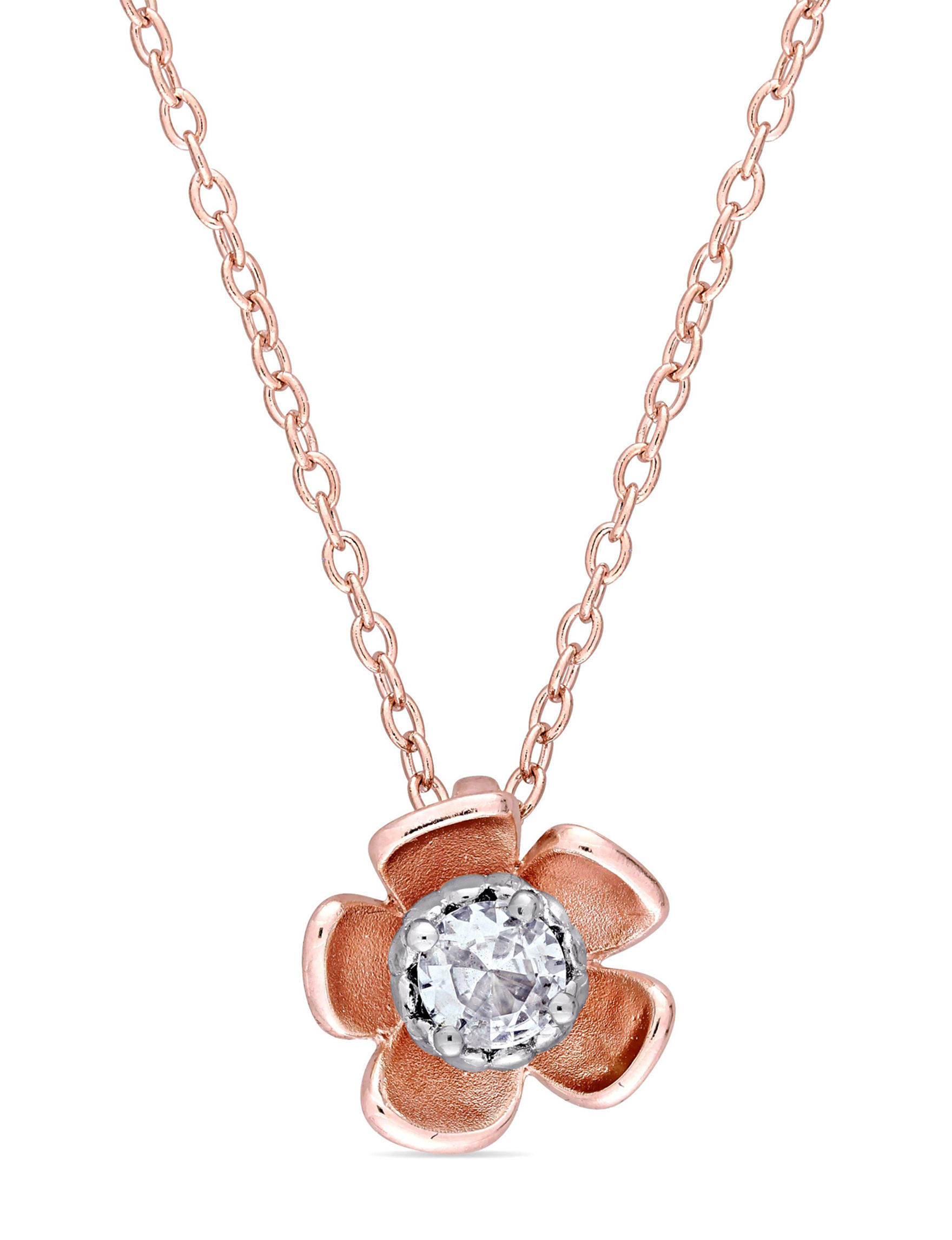 Laura Ashley Rose Gold Necklaces & Pendants Fine Jewelry