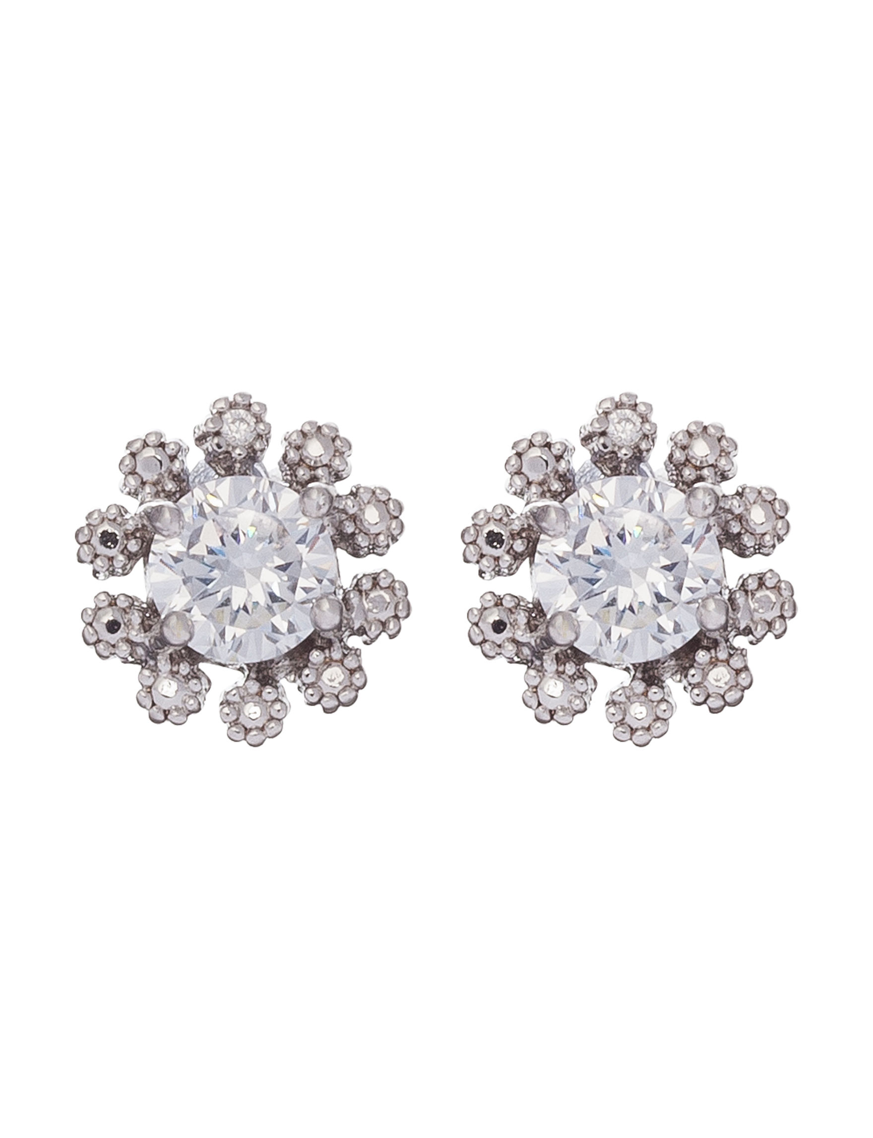 Robert Enterprises Silver Studs Earrings Fashion Jewelry