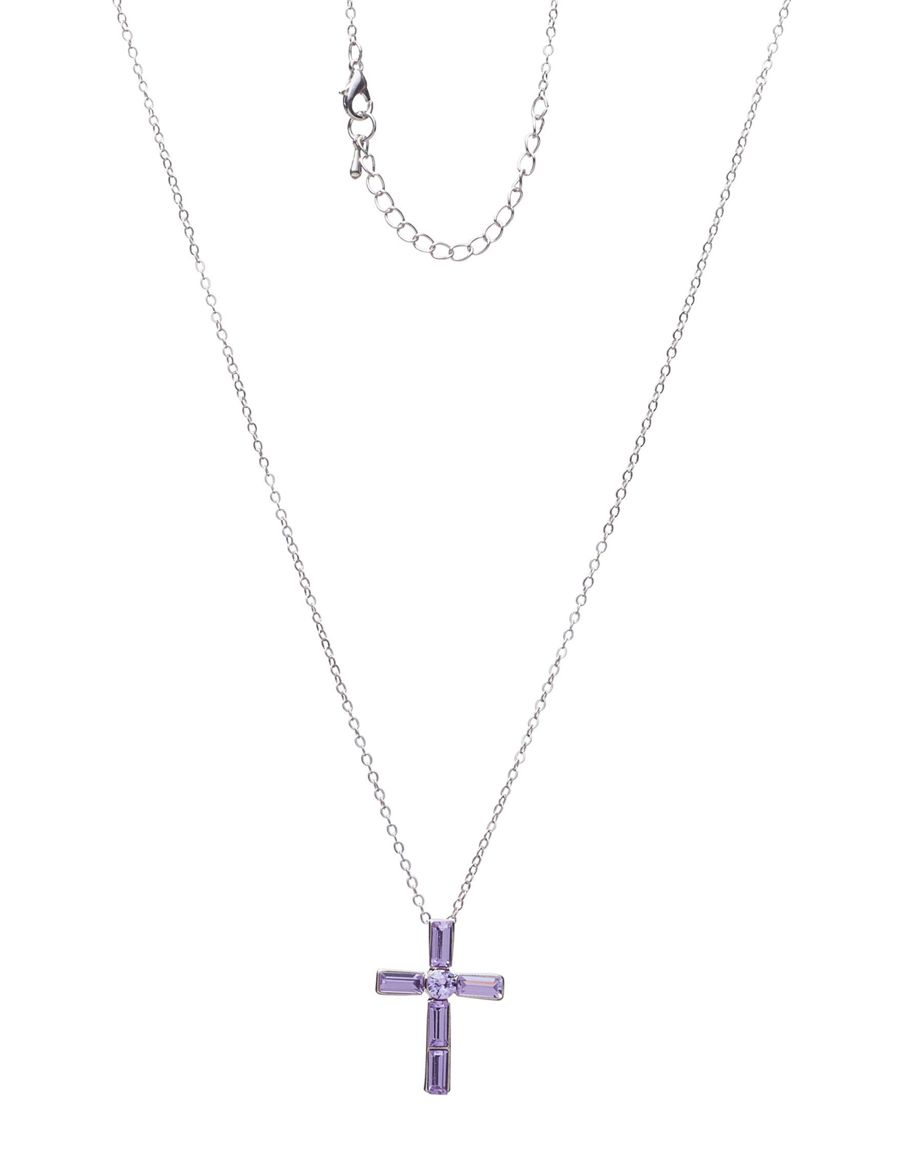 NES Silver / Purple Stone Necklaces & Pendants Fine Jewelry