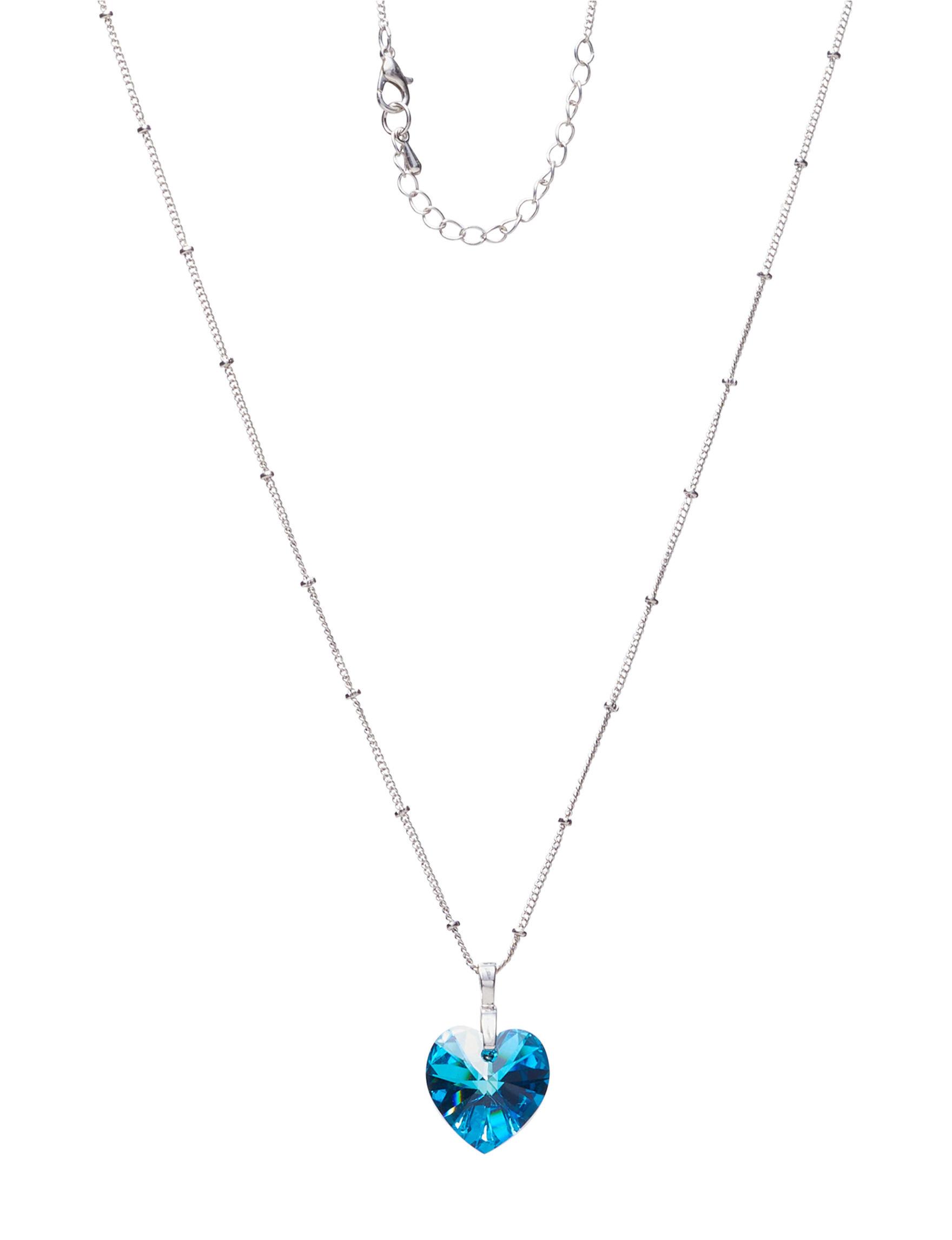 NES Silver / Blue Stone Necklaces & Pendants Fine Jewelry