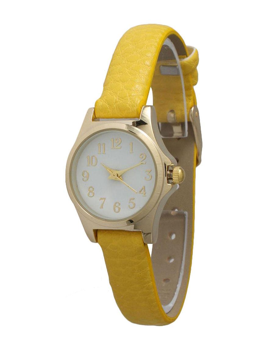Olivia Pratt Mustard Fashion Watches