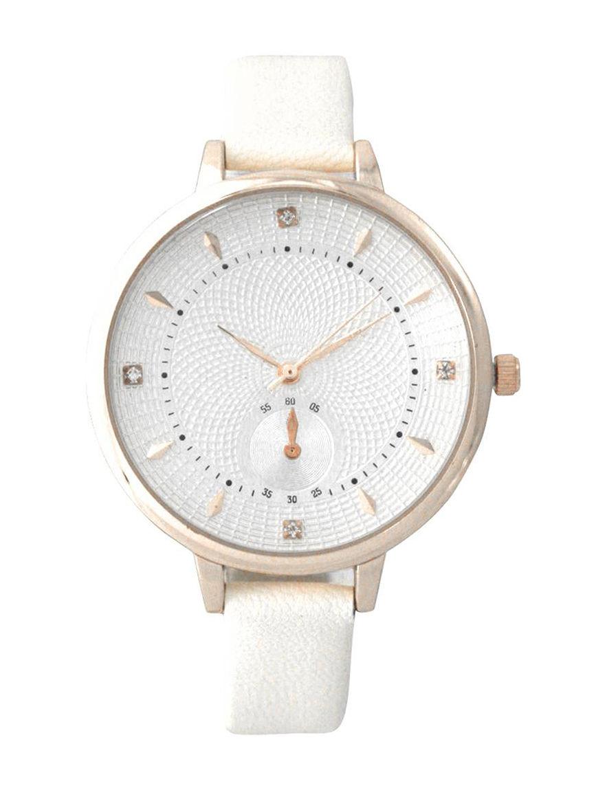 Olivia Pratt White Fashion Watches