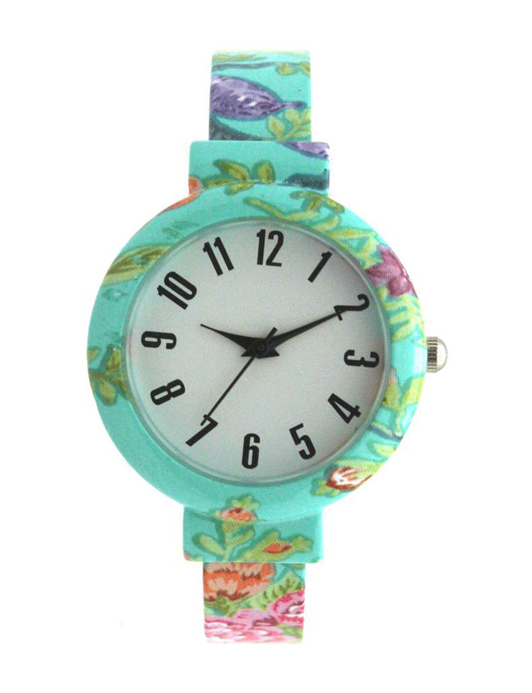 Olivia Pratt Turquoise Multi Fashion Watches