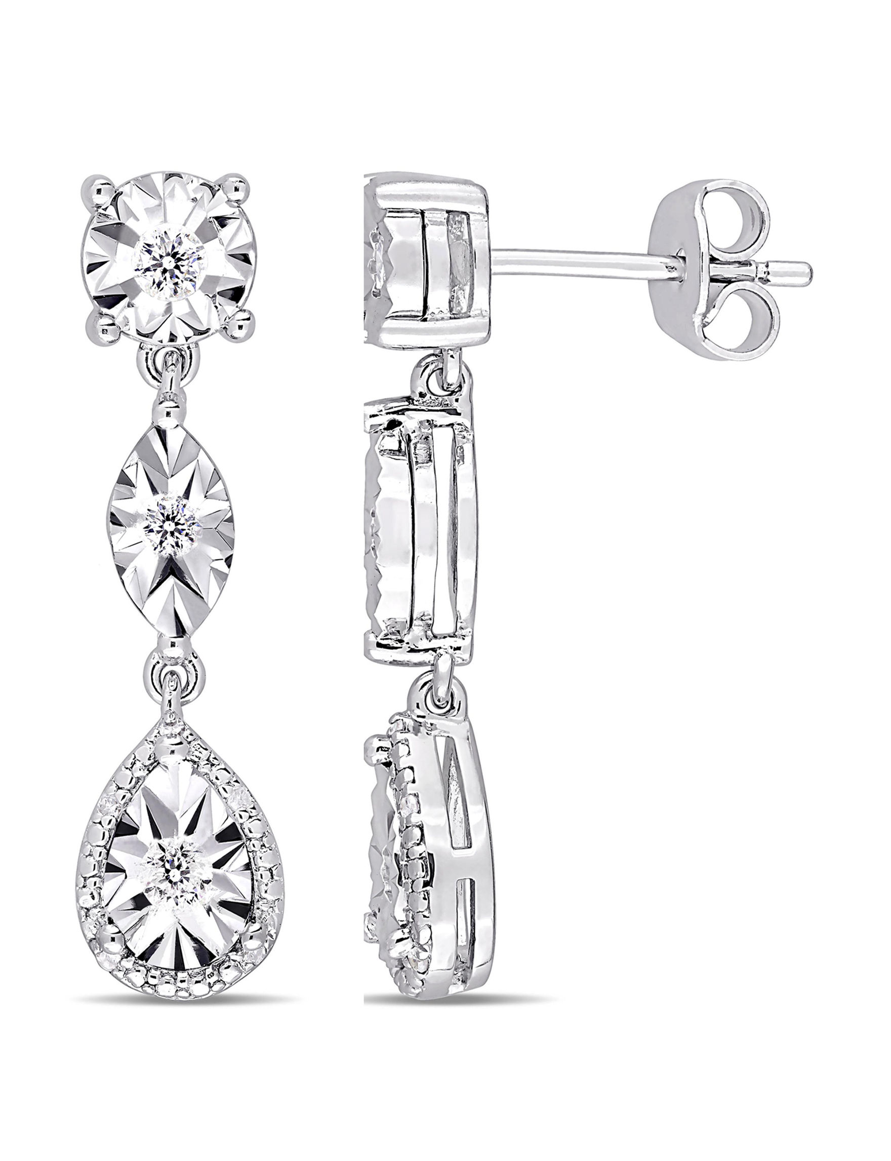 Amour Collection Silver Earrings Fine Jewelry