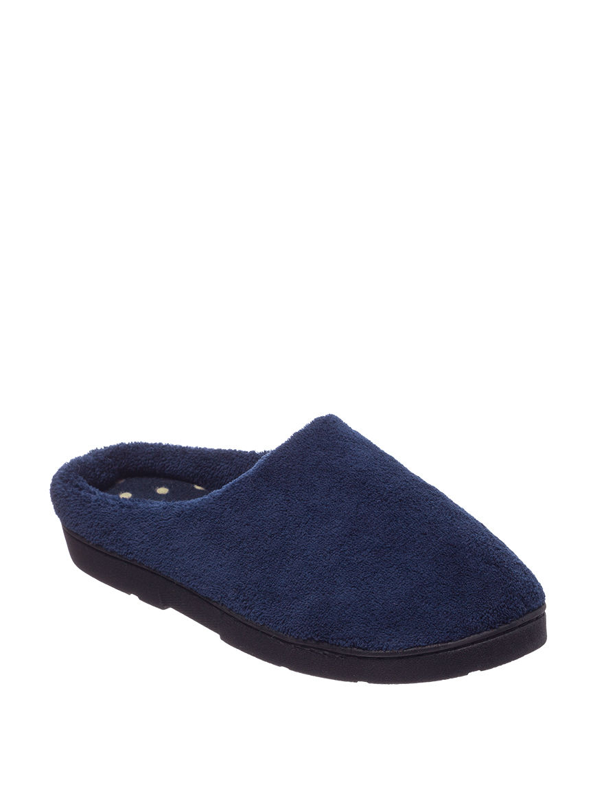 Gold Toe Navy Slipper Shoes