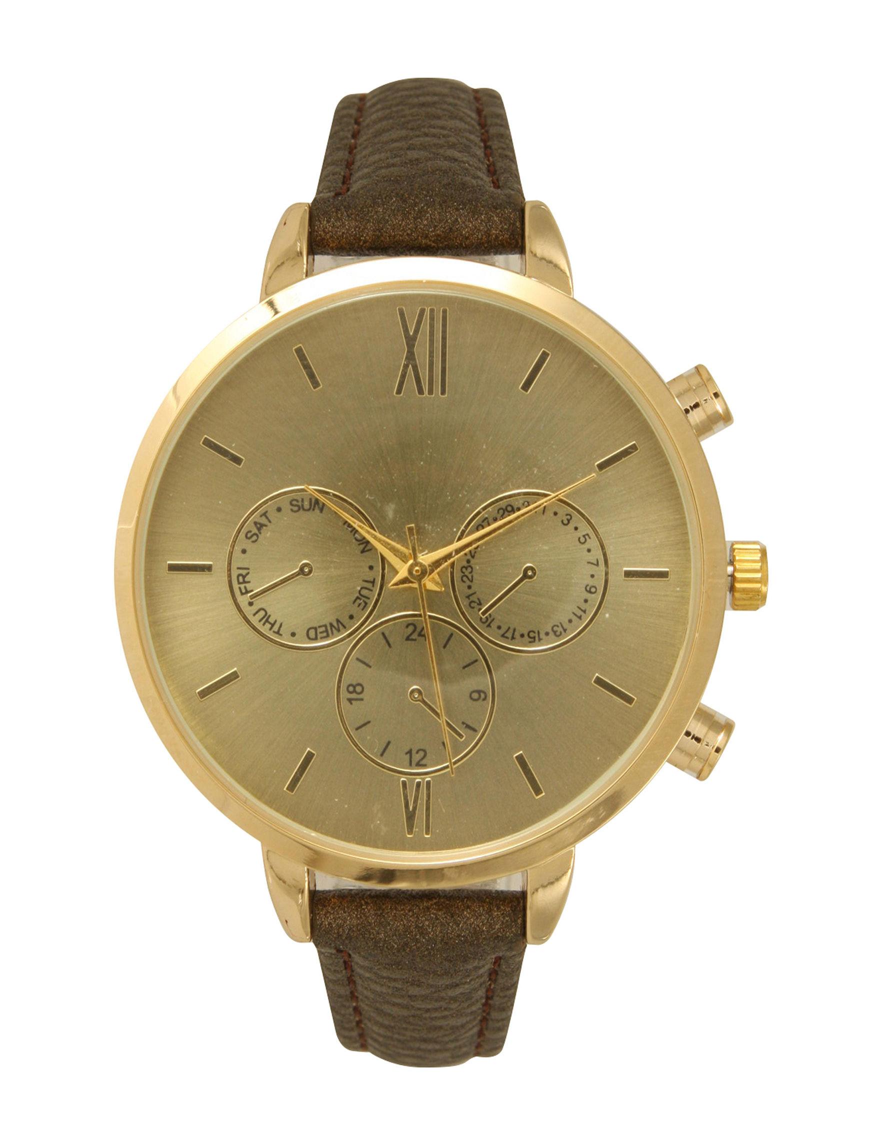 Olivia Pratt Brown Fashion Watches Accessories