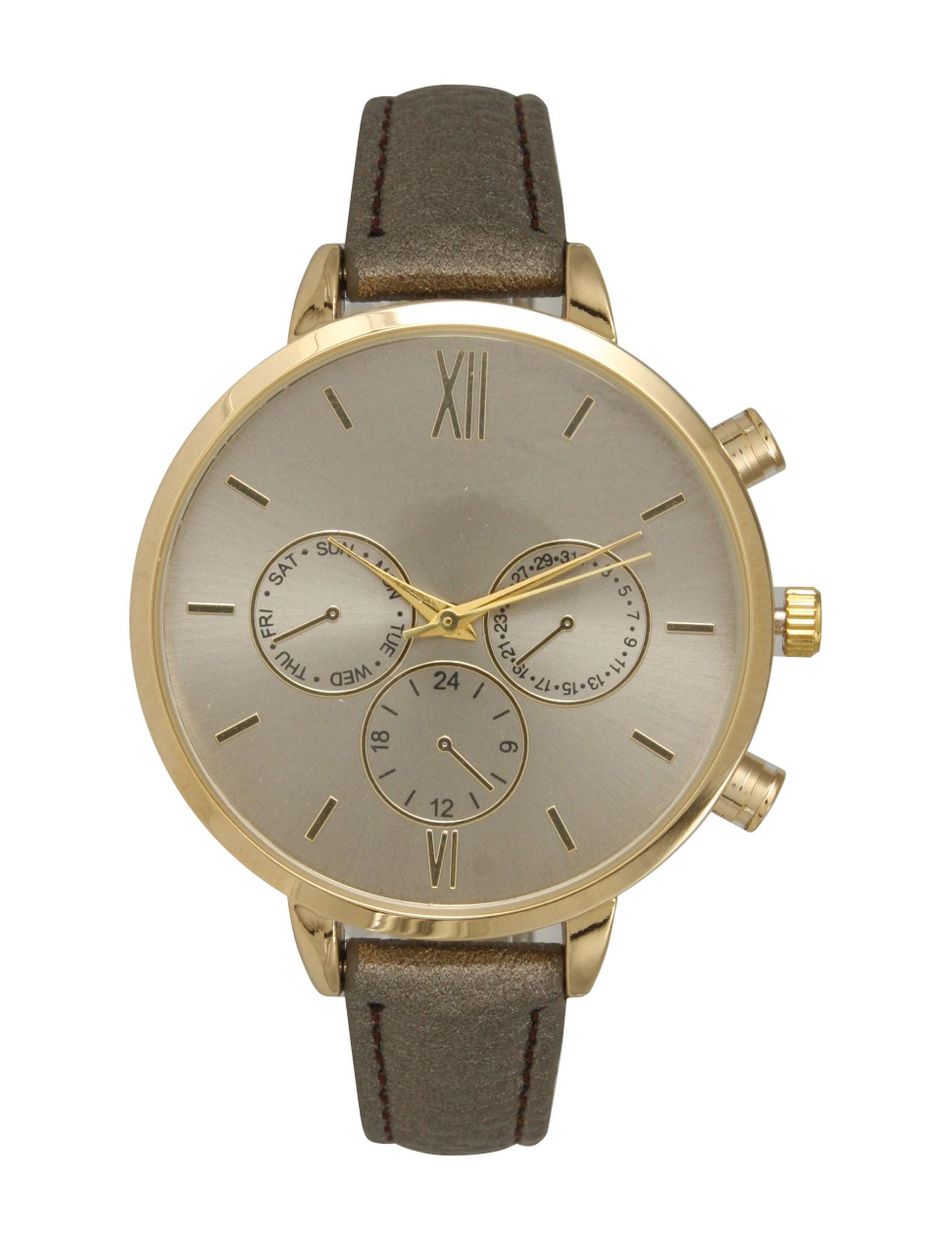 Olivia Pratt Gunmetal Fashion Watches