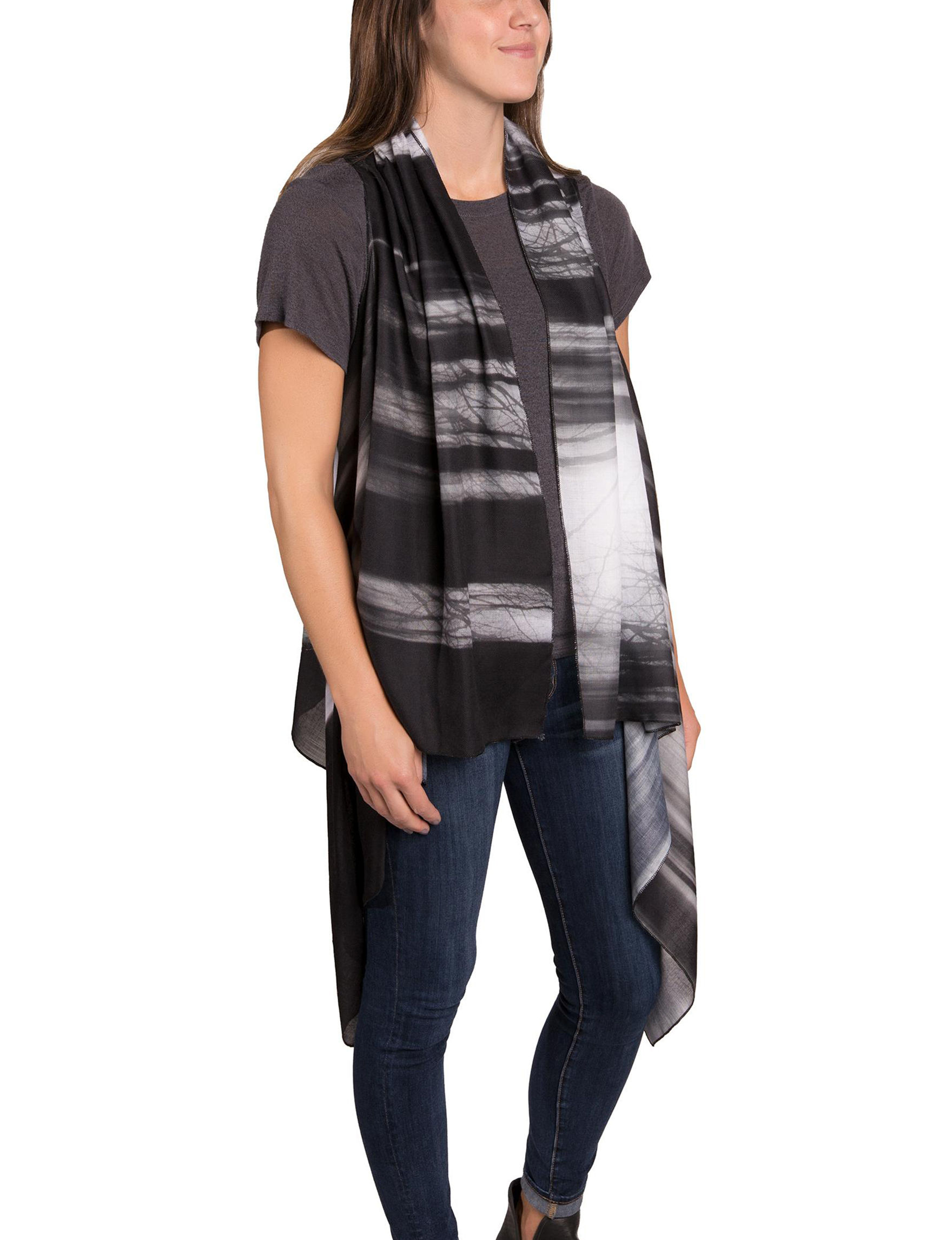Demdaco Black Scarves & Wraps