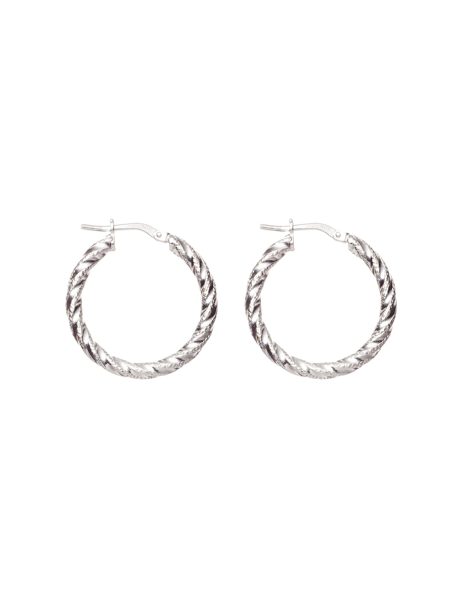 Danecraft Silver Hoops Earrings Fine Jewelry