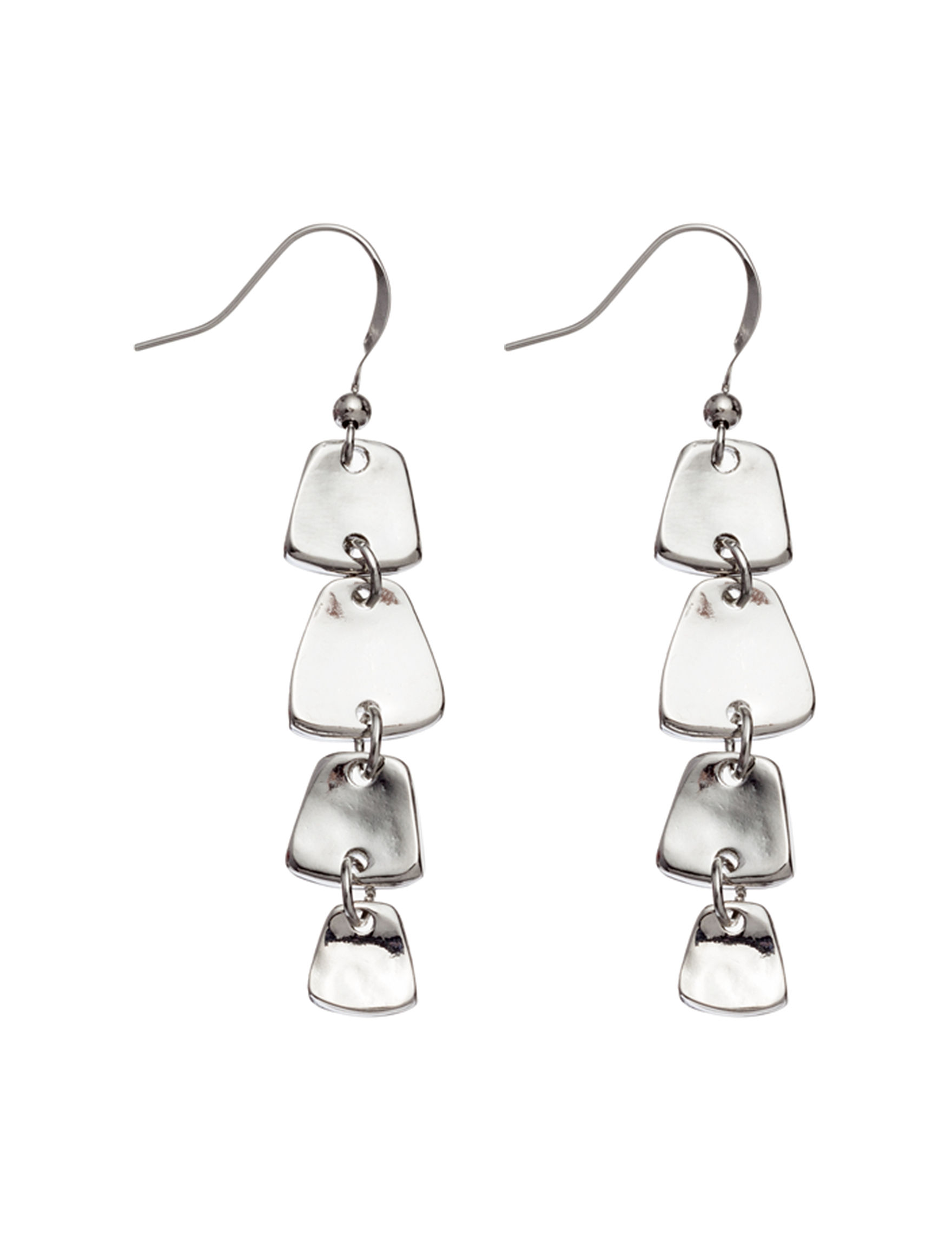 Hannah Silver Drops Earrings Fashion Jewelry