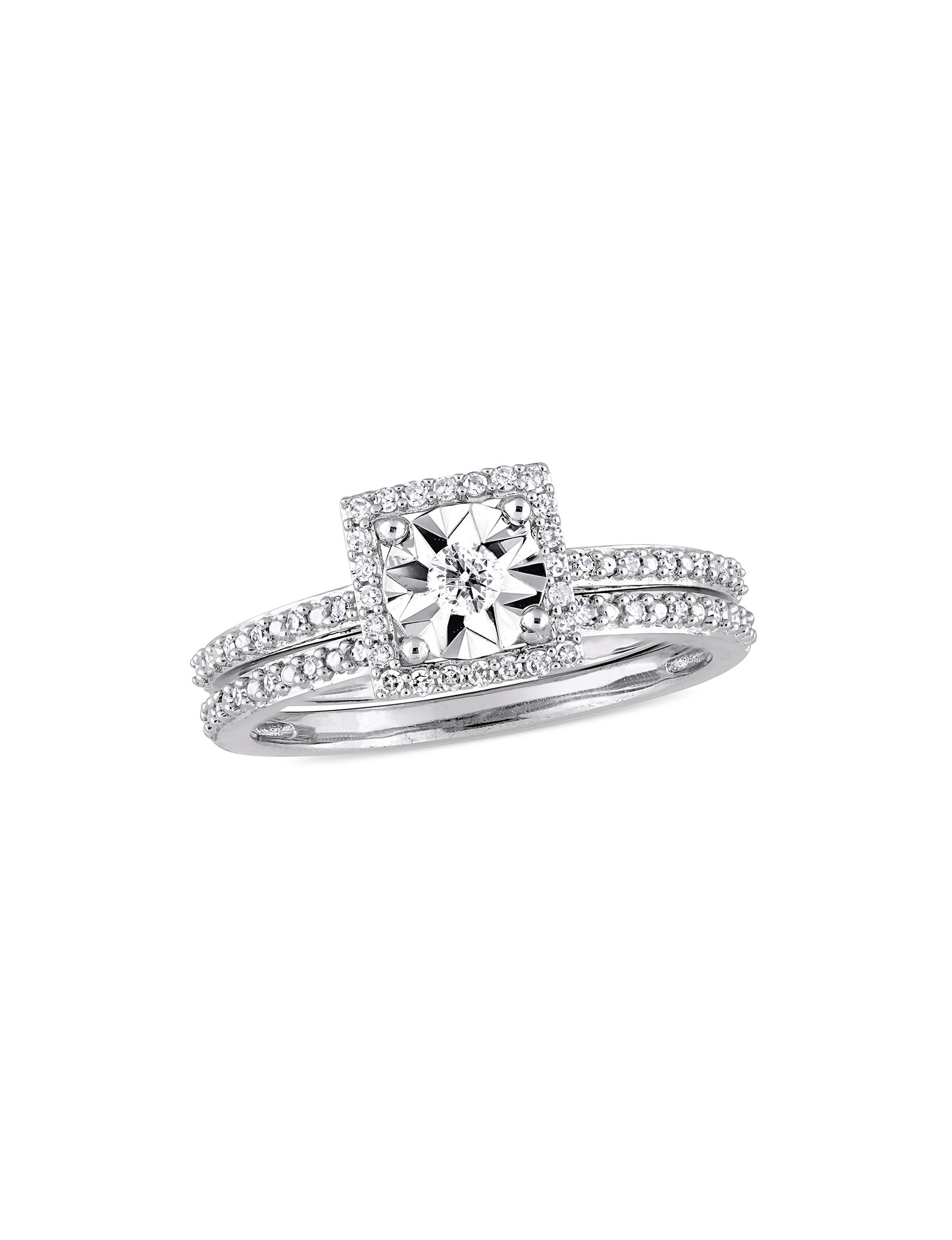 Amour Collection White Gold Rings