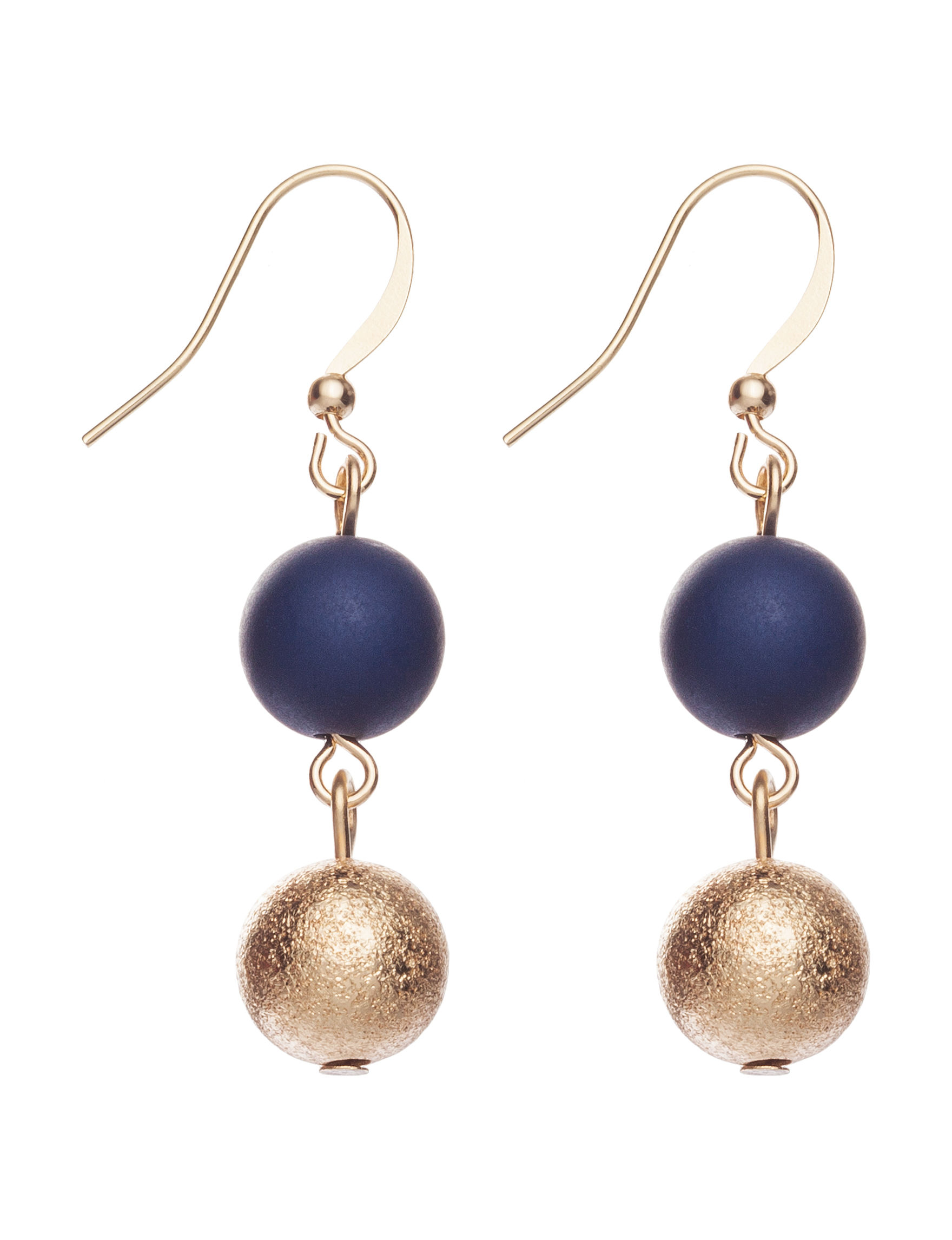 Hannah Navy Drops Earrings Fashion Jewelry