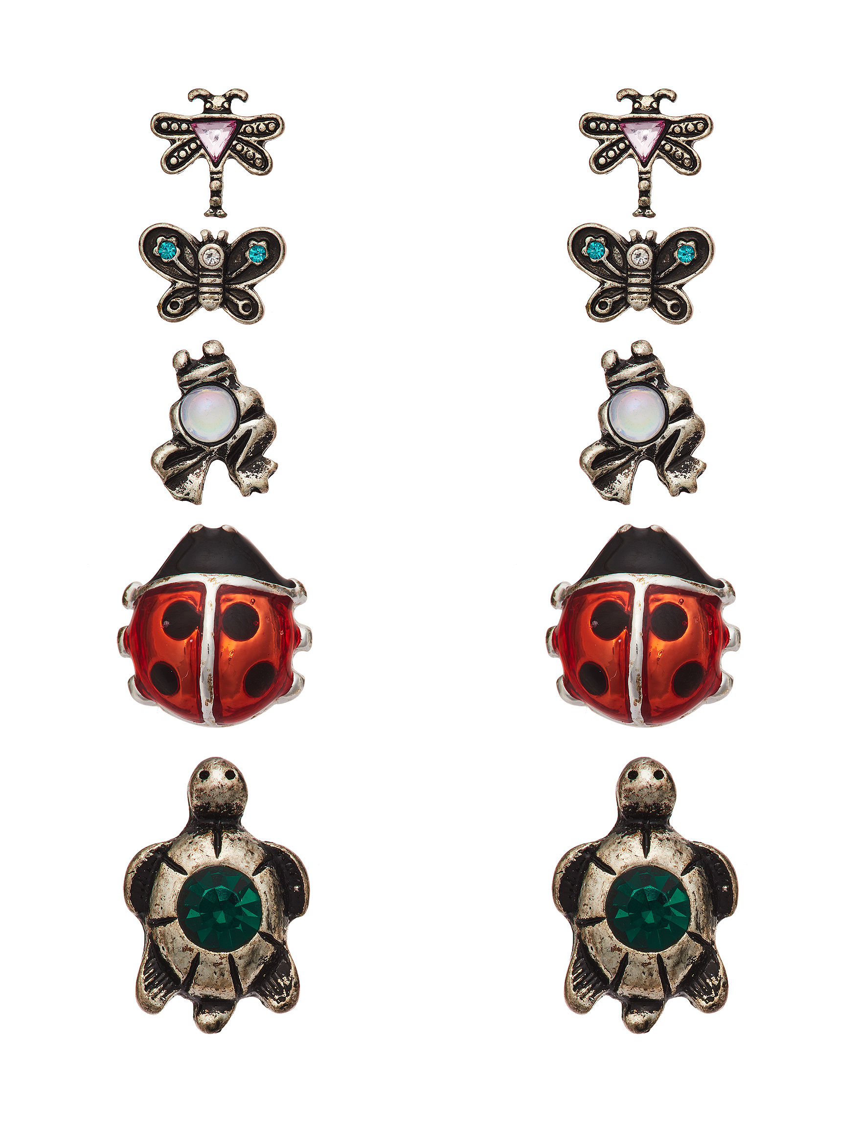 Fashion Accents Silver Studs Earrings Jewelry Sets Fashion Jewelry
